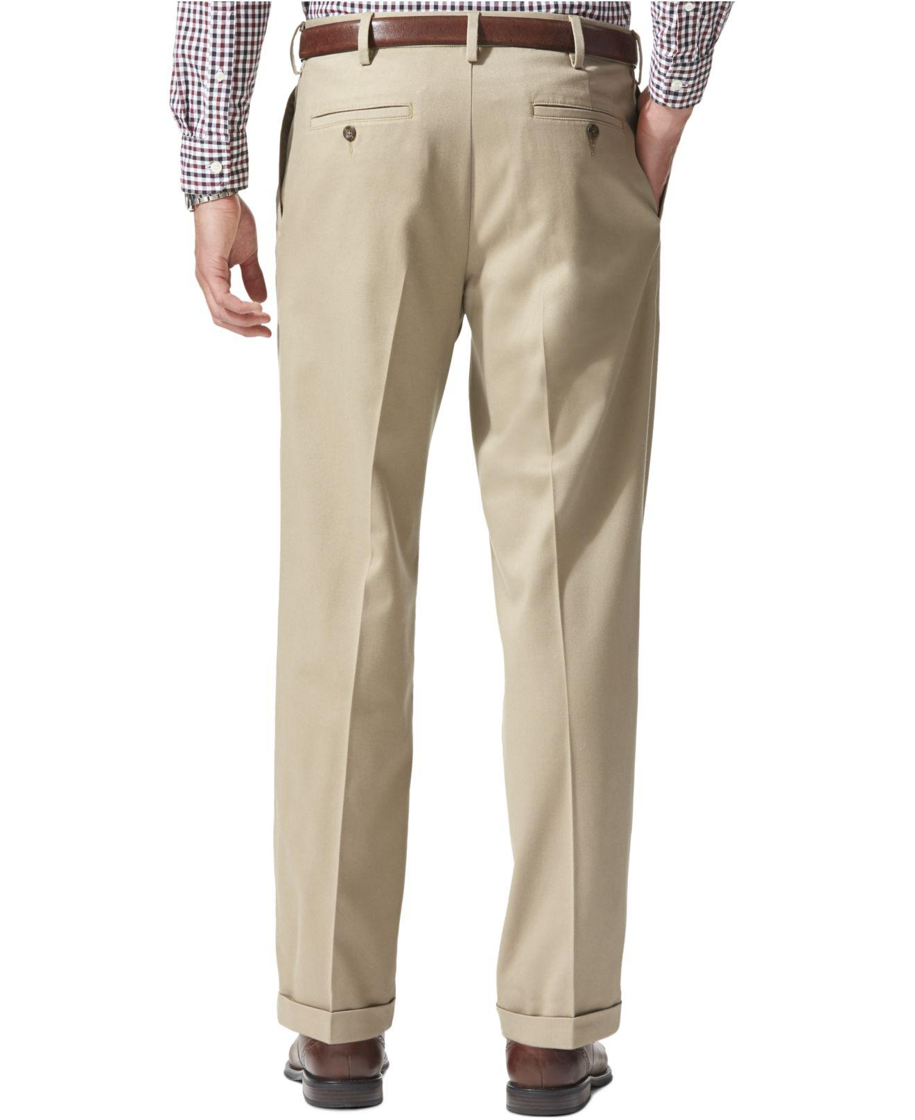 56821599a2878a Lyst - Dockers Relaxed Fit Comfort Khaki Pleated Pants in Natural for Men