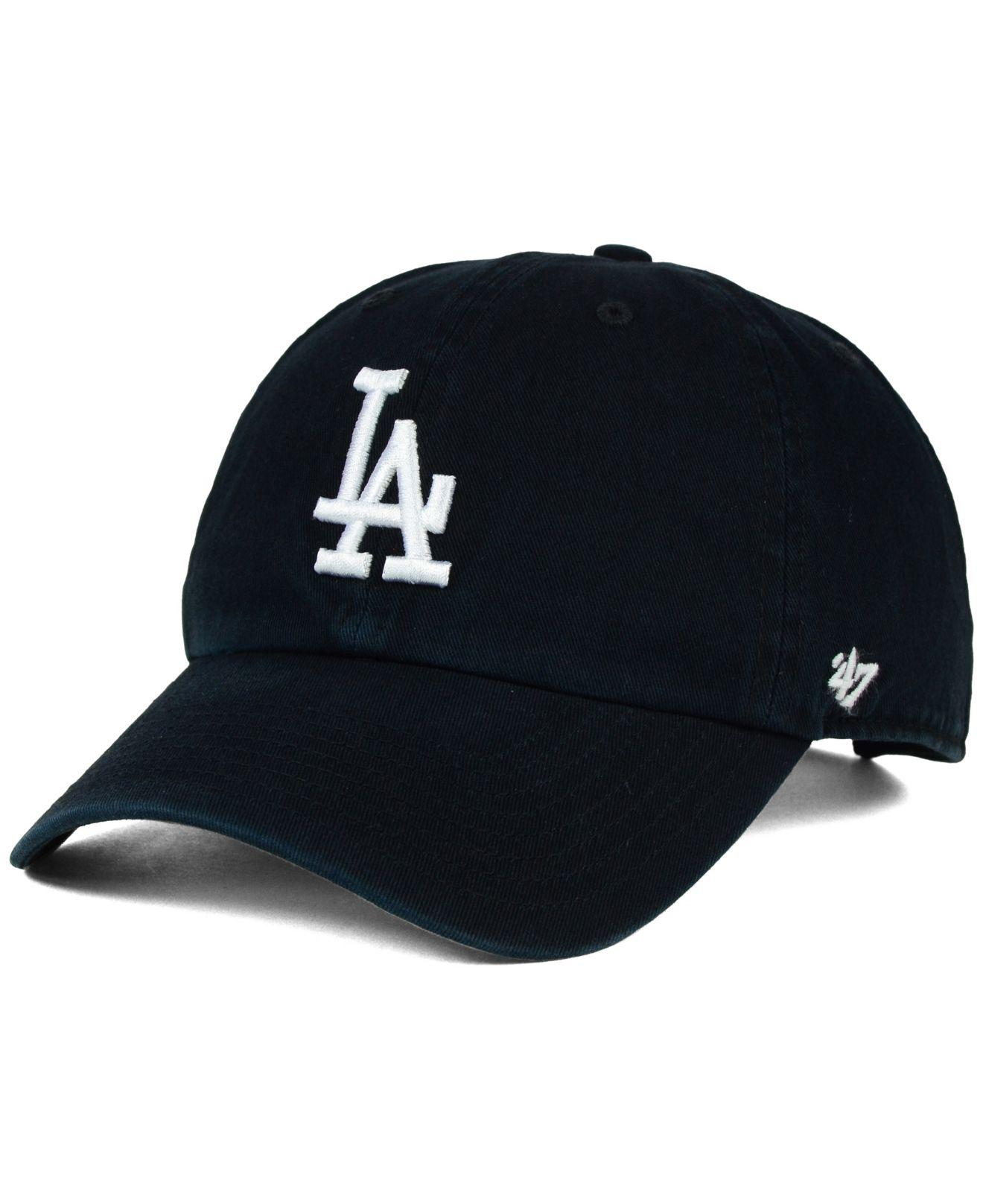 75bed8b31676ea Lyst - 47 Brand Los Angeles Dodgers Core Clean Up Cap in Black for Men
