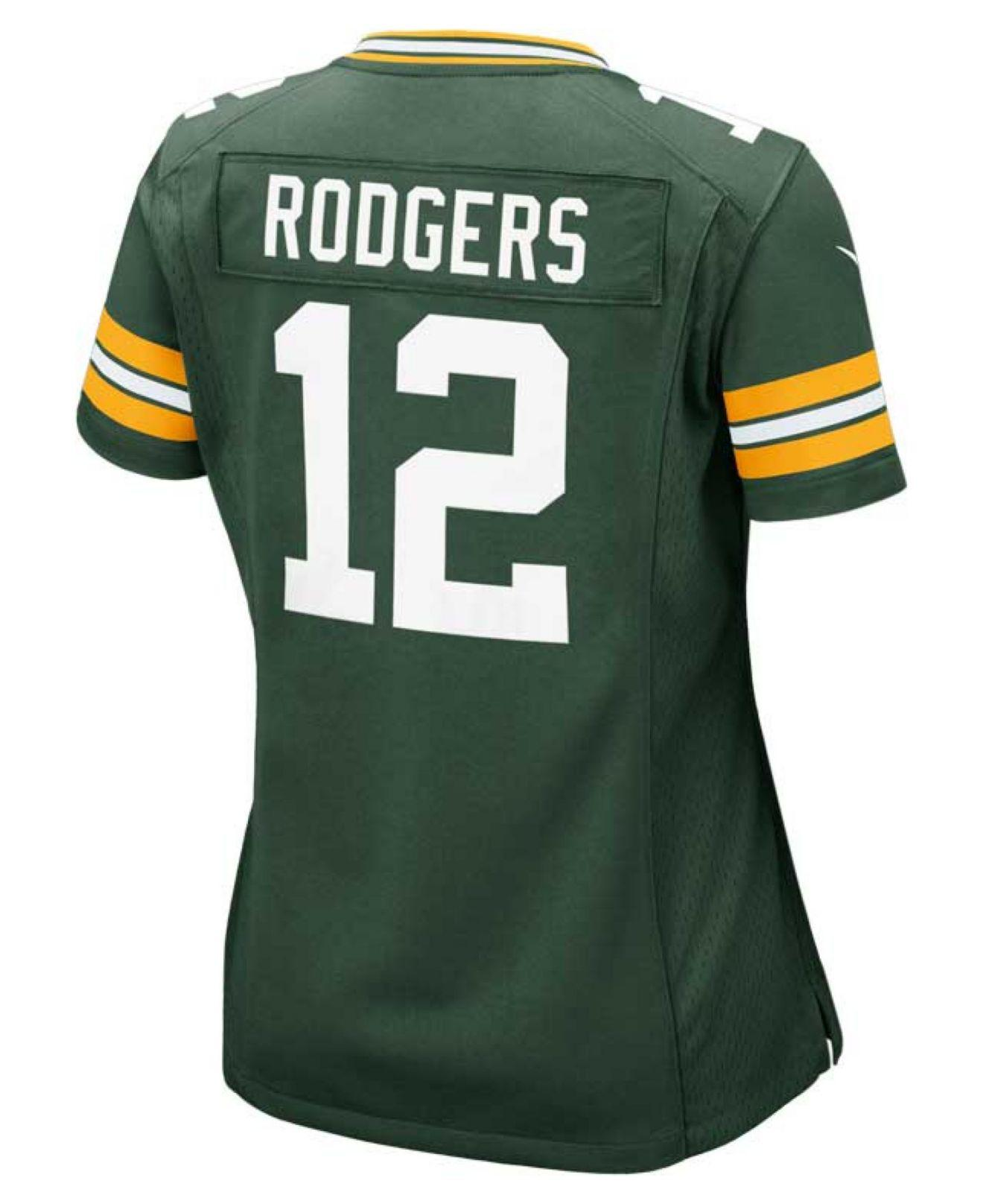 Lyst - Nike Women s Aaron Rodgers Green Bay Packers Game Jersey in Green 6c361a5e4