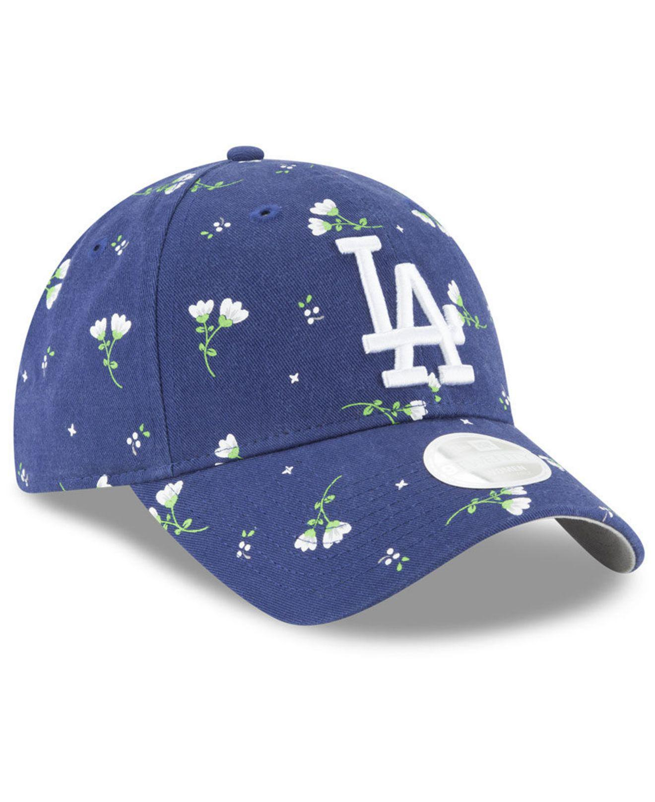 buy popular 9e507 c20ae KTZ Los Angeles Dodgers Blossom 9twenty Cap in Blue - Lyst