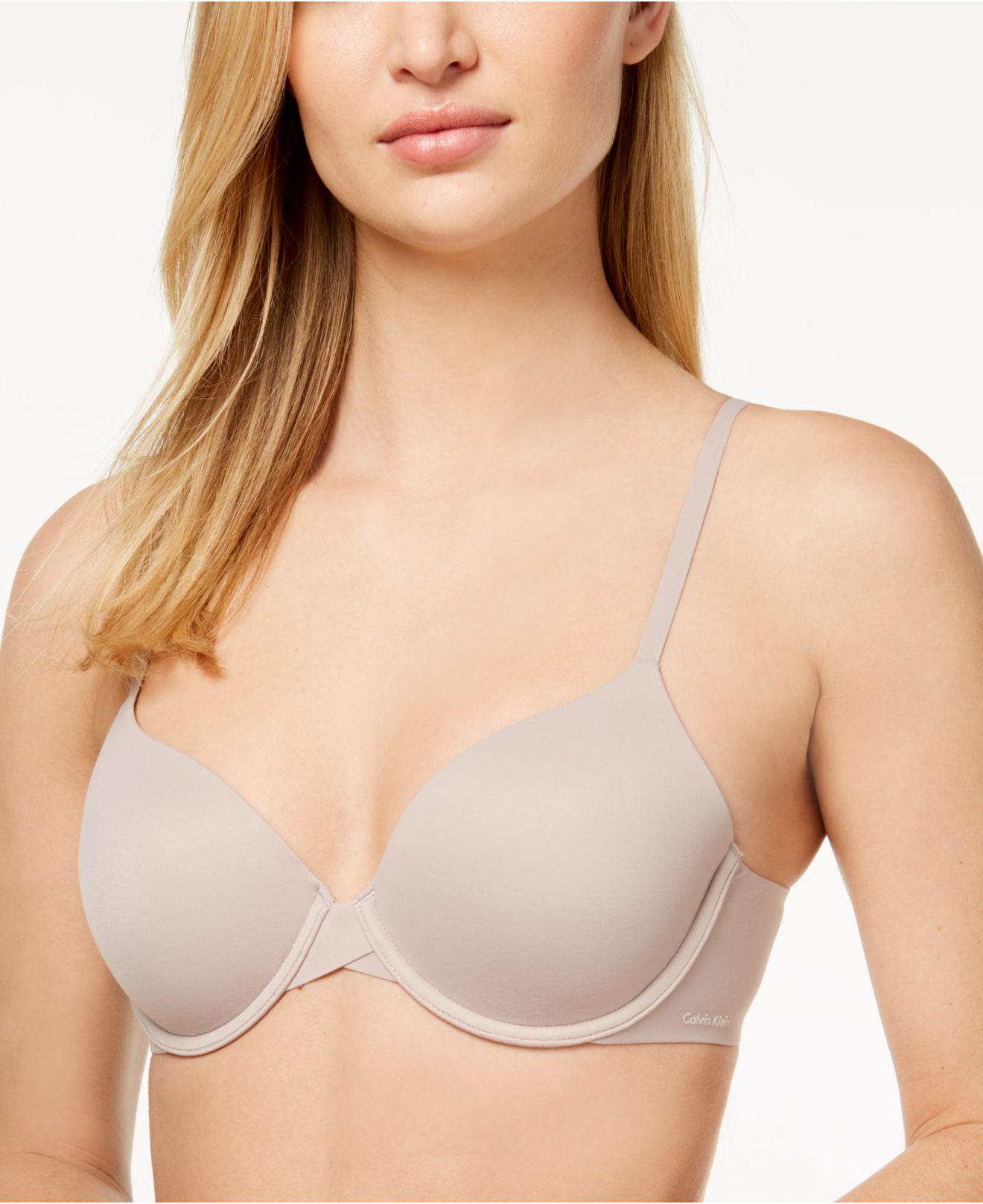 9b6805c5c8 Calvin Klein - Natural Perfectly Fit Modern T-shirt Bra F3837 - Lyst. View  fullscreen