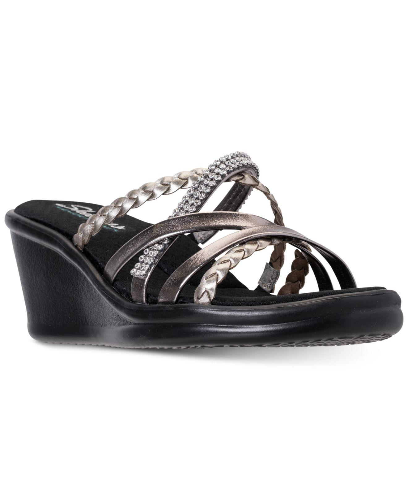 8512ffcc169 Lyst - Skechers Rumblers - Wild Child Sandals From Finish Line in Black