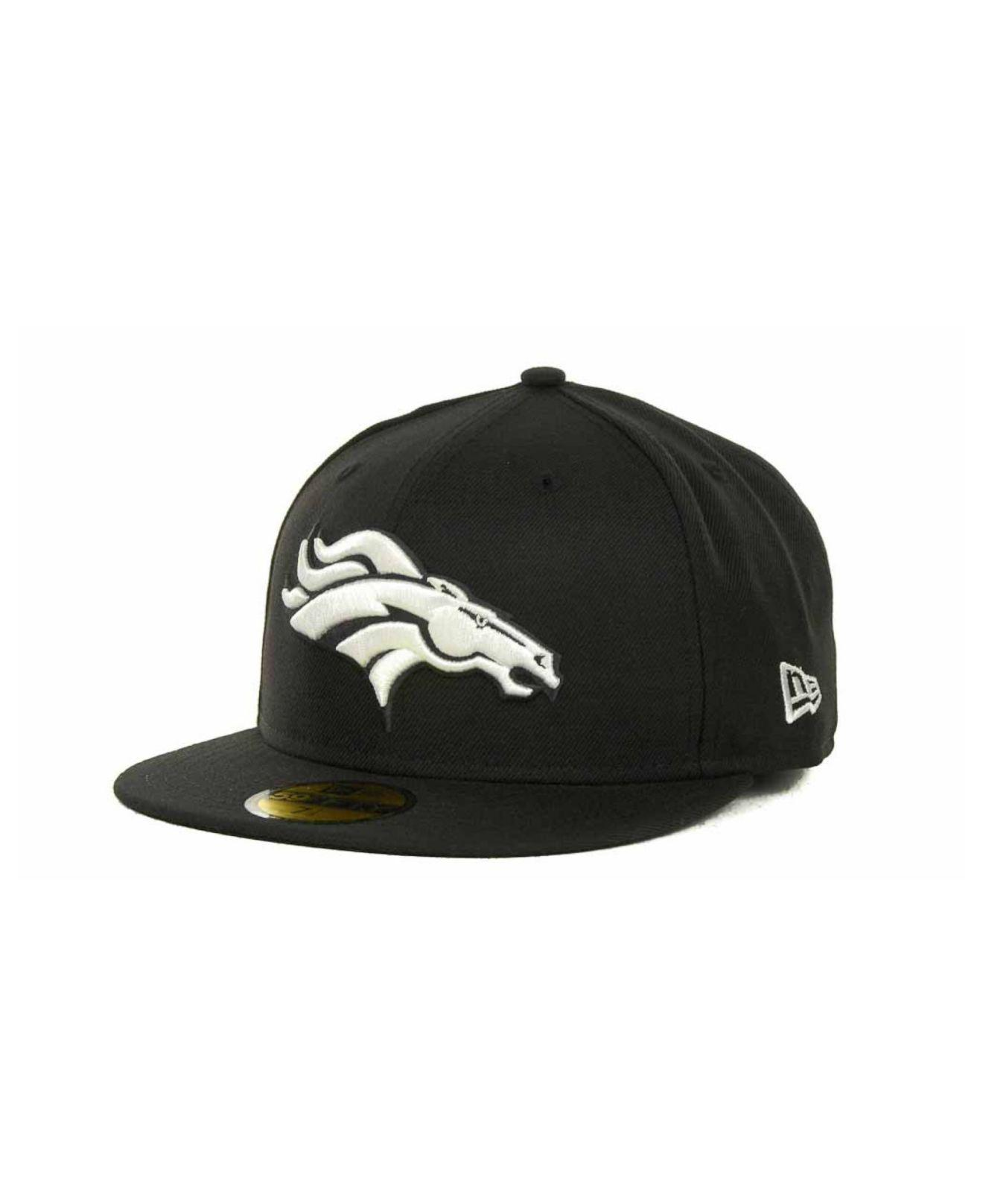 4e25e5642 Lyst - Ktz Denver Broncos 59fifty Cap in Black for Men