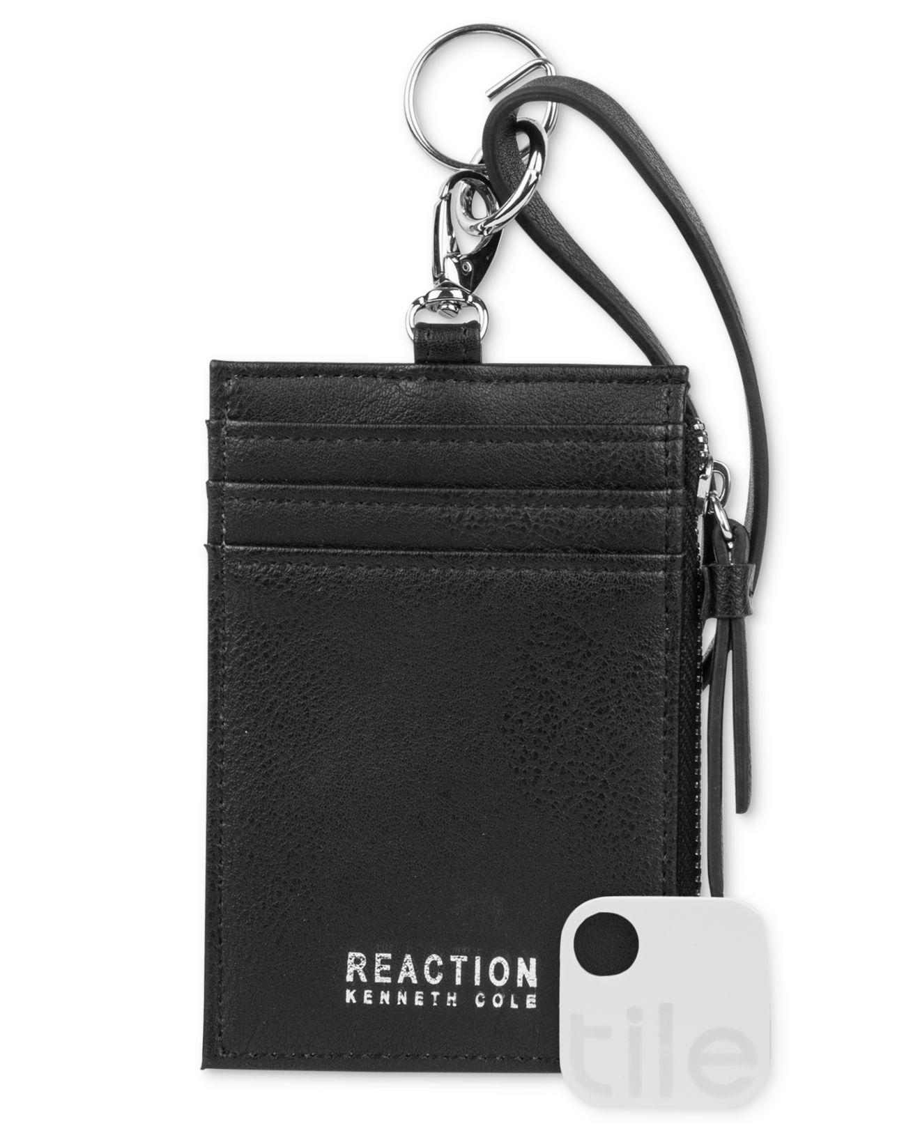 de55bf423ce0 Kenneth Cole Reaction Lanyard Wallet With Tracker in Black for Men ...