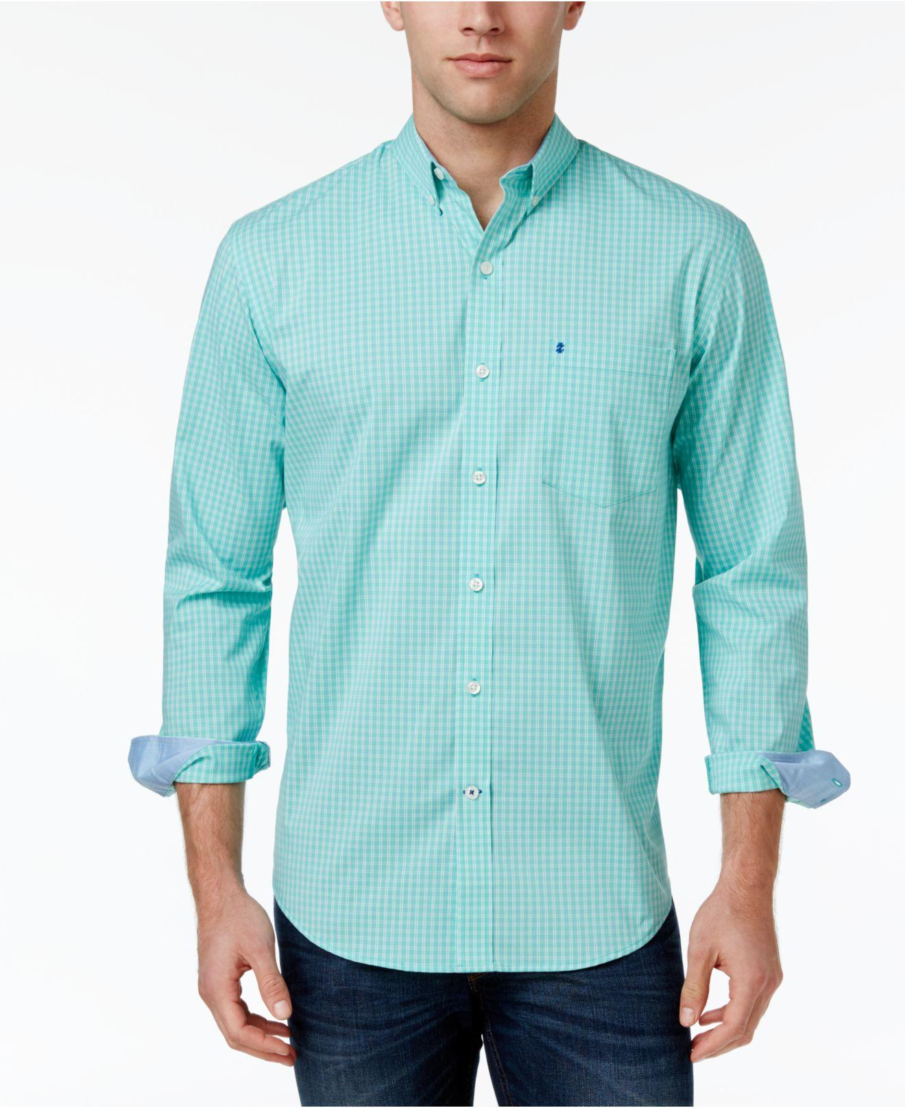 Lyst izod men 39 s non iron stretch performance shirt in for What is a non iron shirt
