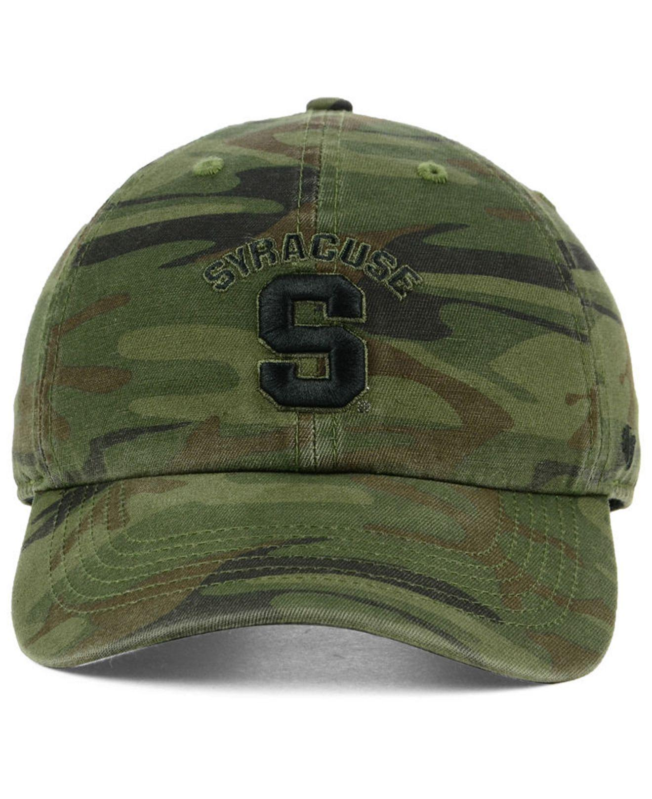 finest selection 2ae8e 0f3fe ... norway lyst 47 brand syracuse orange regiment clean up strapback cap in  green for men 41691