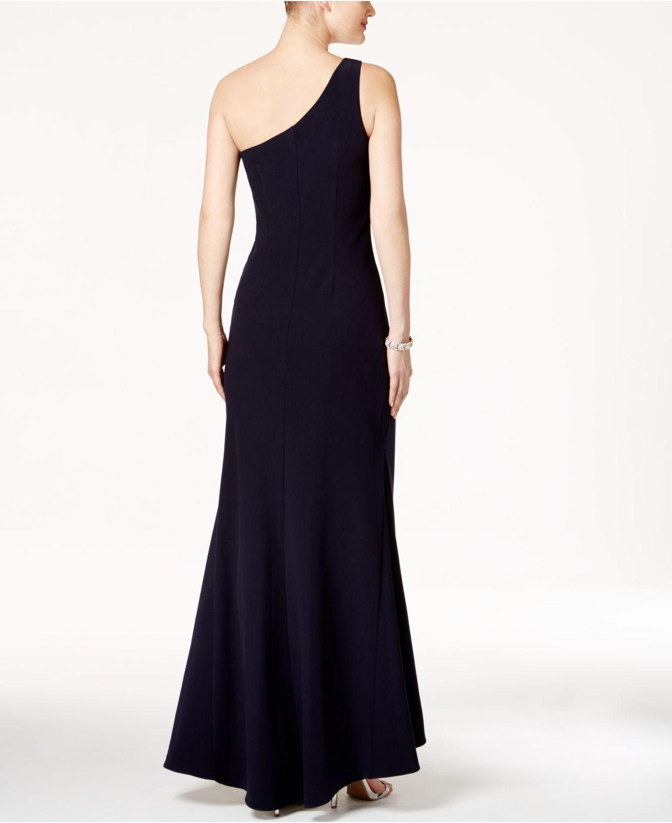 Lyst Vince Camuto One Shoulder Gown In Blue
