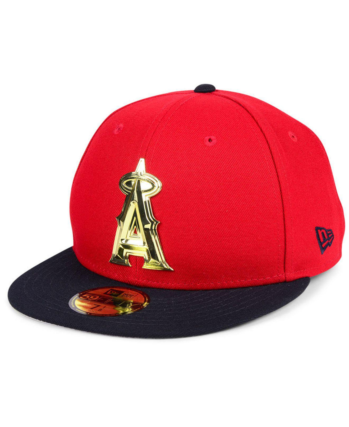 brand new 32d99 19f6f czech los angeles angels new era mlb coop banner patch 9twenty strapback cap  1a234 23210  italy ktz. mens red los angeles angels golden finish 59fifty  ...
