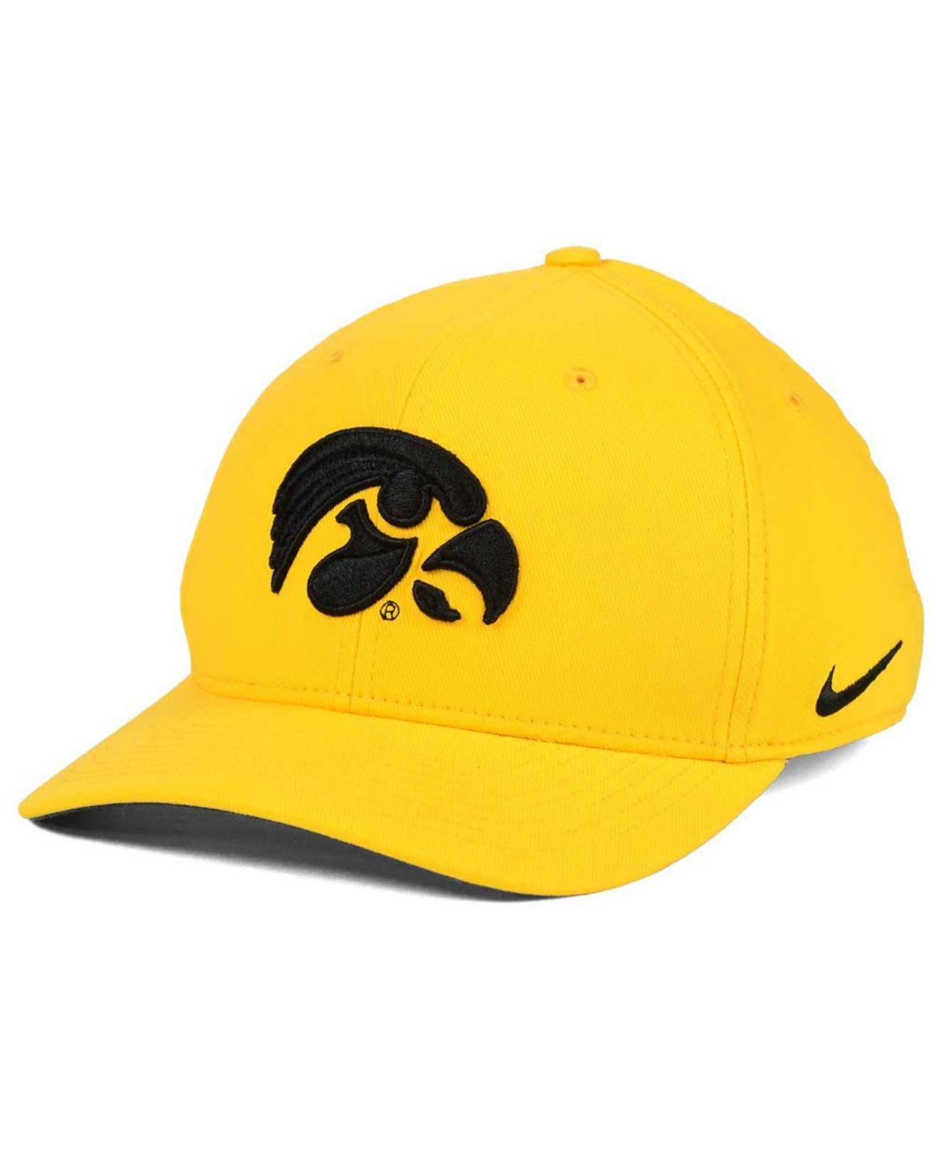 finest selection 18a50 eddd6 Lyst - Nike Iowa Hawkeyes Classic Swoosh Cap in Yellow for Men