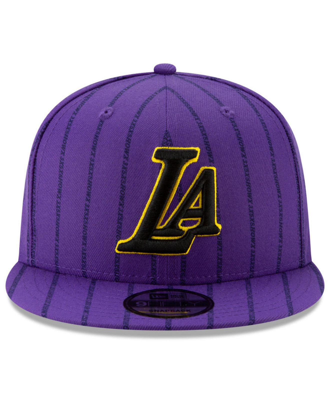 new arrival bce35 252d3 Lyst - KTZ Los Angeles Lakers City Series 2.0 9fifty Snapback Cap in Purple  for Men