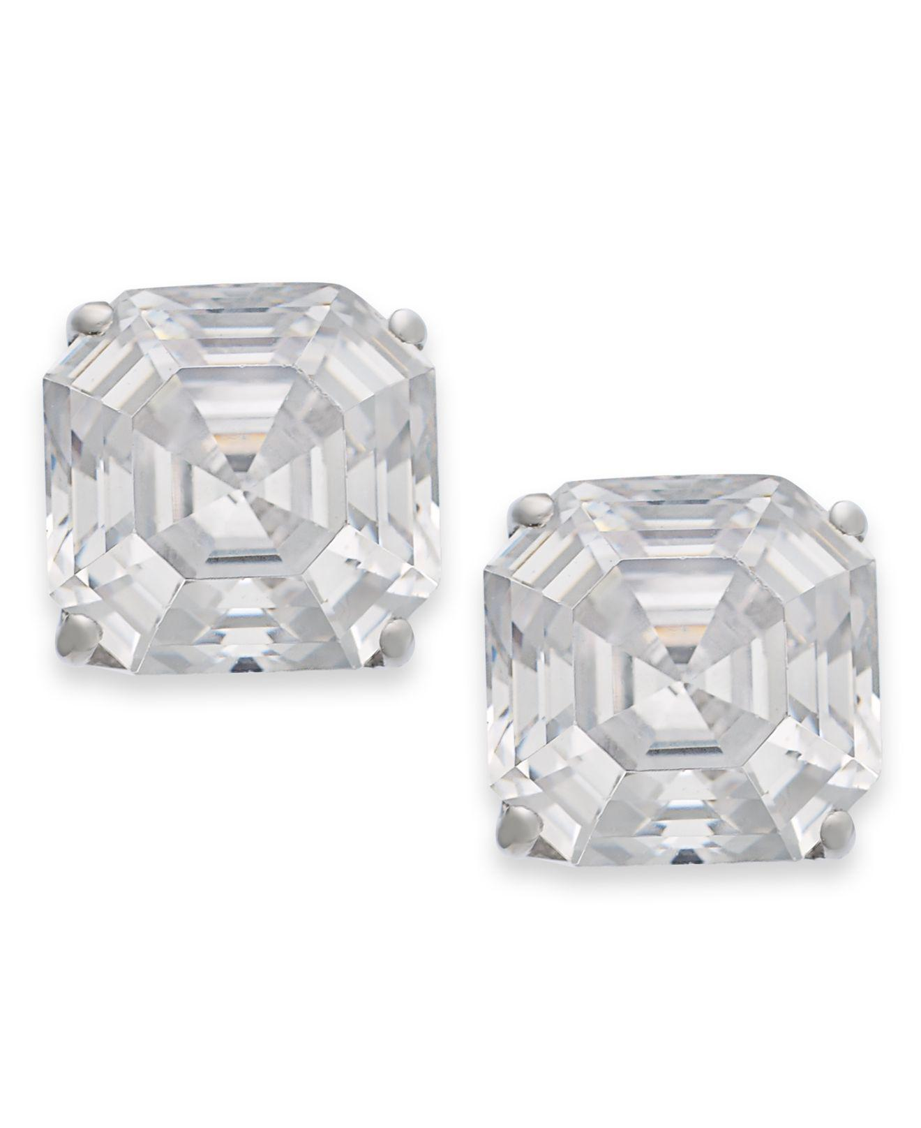 sterling simply zirconia zoom cubic earring earrings silver stud jewellery