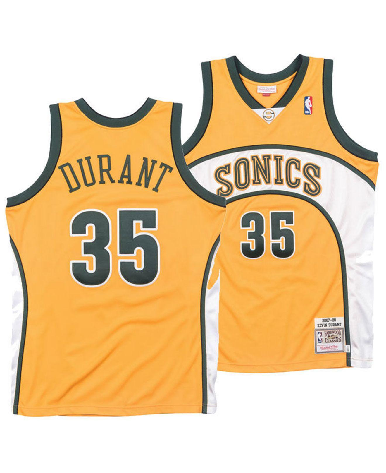 Mitchell   Ness. Men s Metallic Kevin Durant Seattle Supersonics Authentic  Jersey 687d84c49