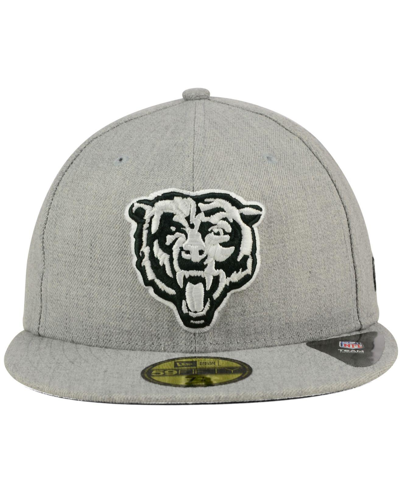 quality design 4a42c a6373 ... coupon lyst ktz chicago bears heather black white 59fifty cap in gray  for men 5e84e d9f26
