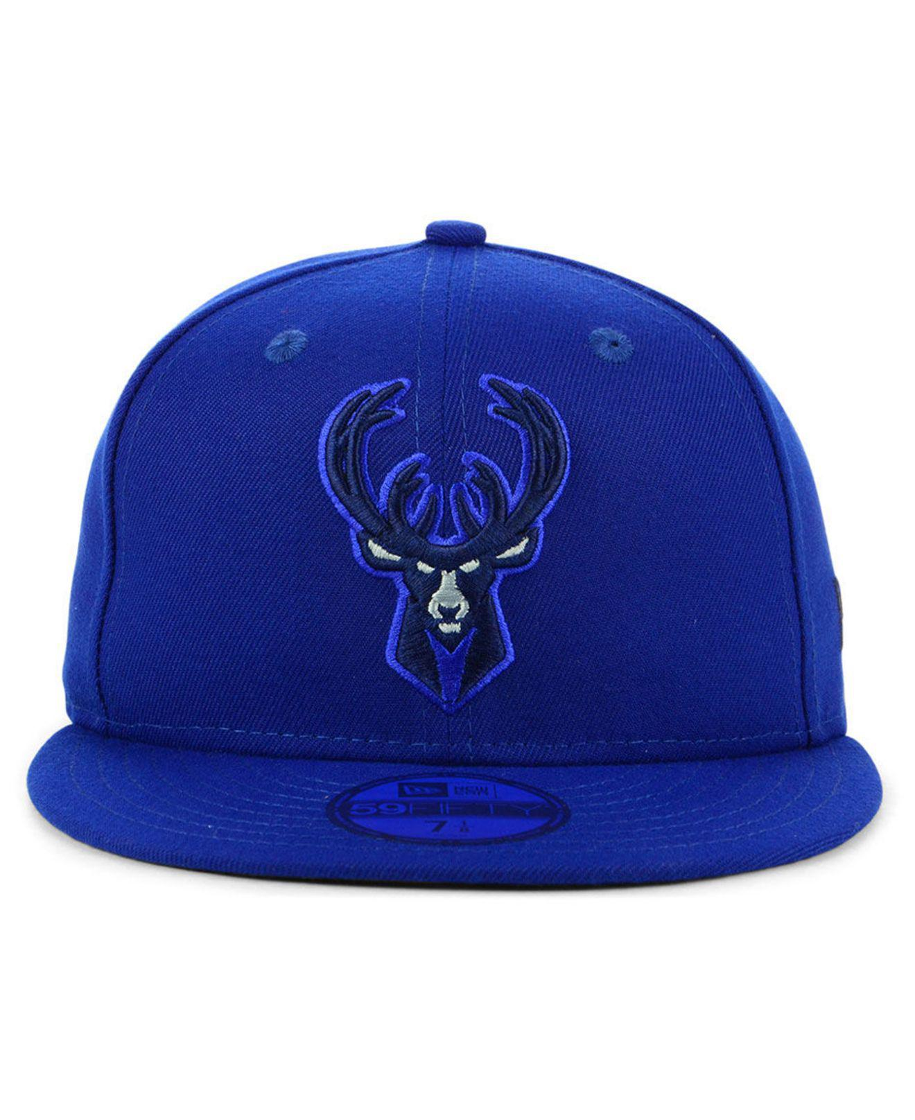 wholesale dealer 0223c 6a9c3 ... official lyst ktz milwaukee bucks color prism pack 59fifty fitted cap  in blue for men 11436