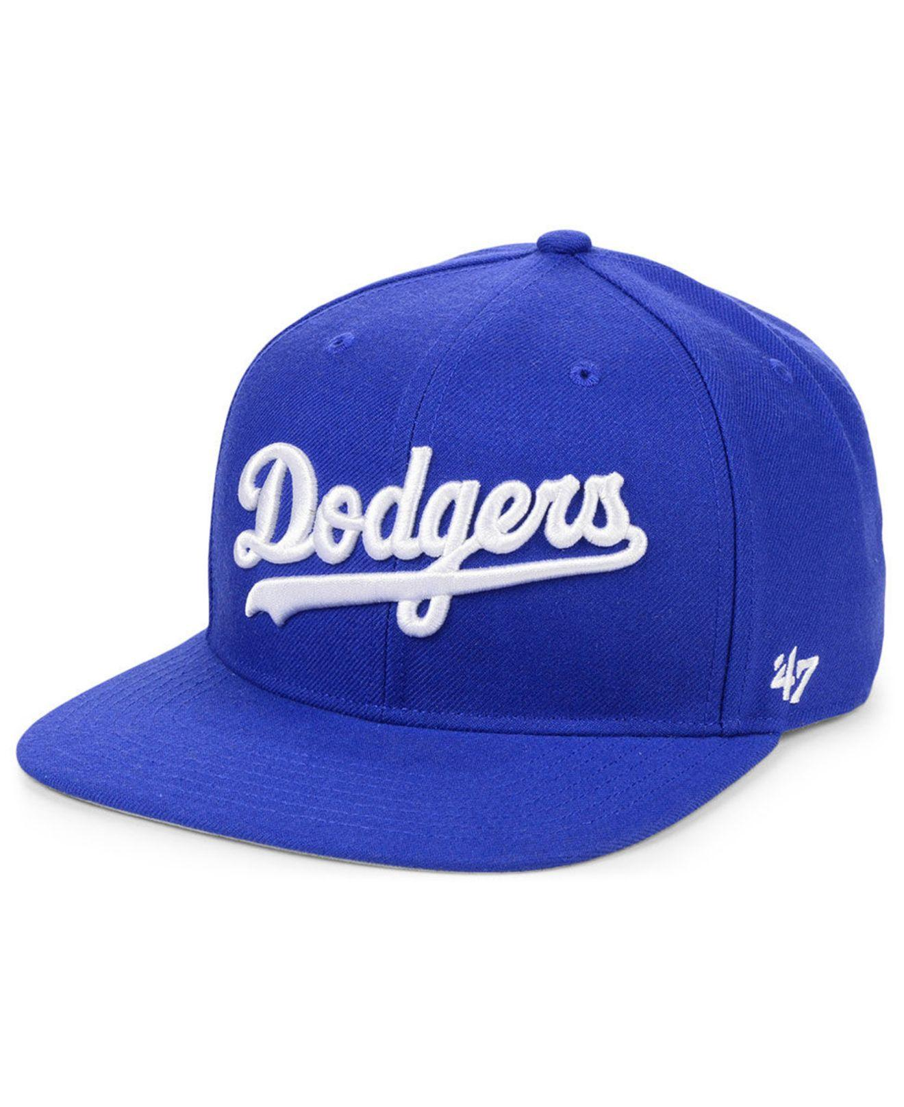 quality design a94aa 95849 47 Brand. Men s Blue Los Angeles Dodgers Script Snapback Cap