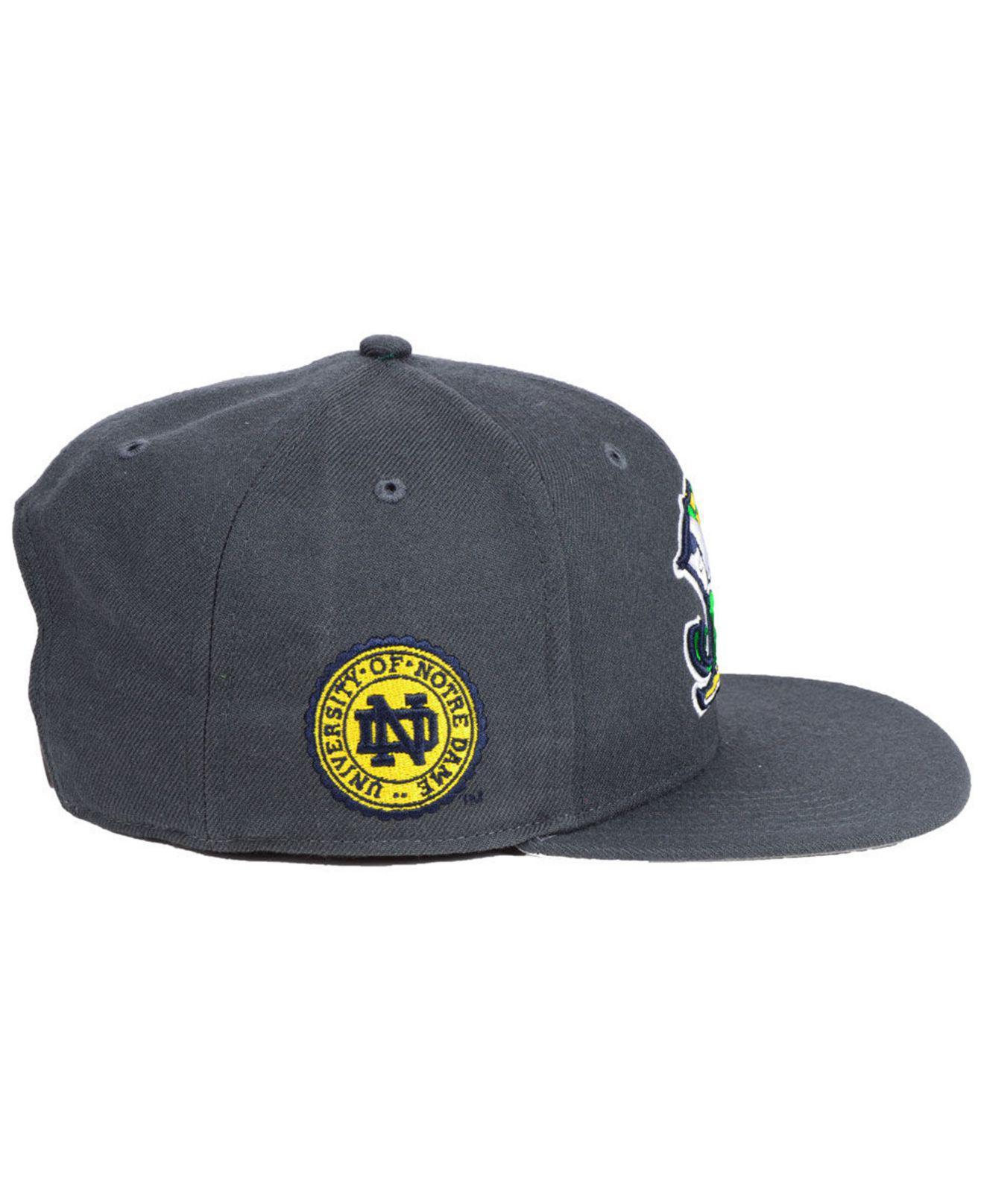 innovative design c93fa 13330 47 Brand Notre Dame Fighting Irish Sure Shot Captain Snapback Cap in Gray  for Men - Lyst