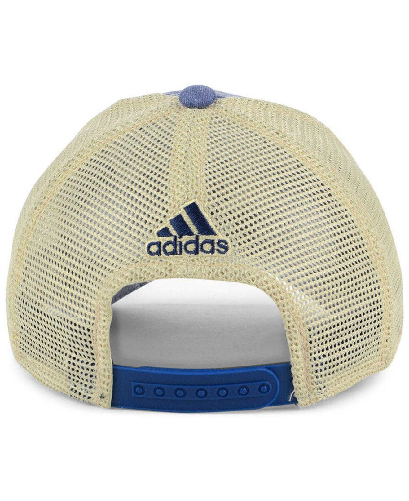 promo code e32a5 988d0 ... france lyst adidas winnipeg jets sun bleached slouch cap in blue for men  0a2ff 1c041