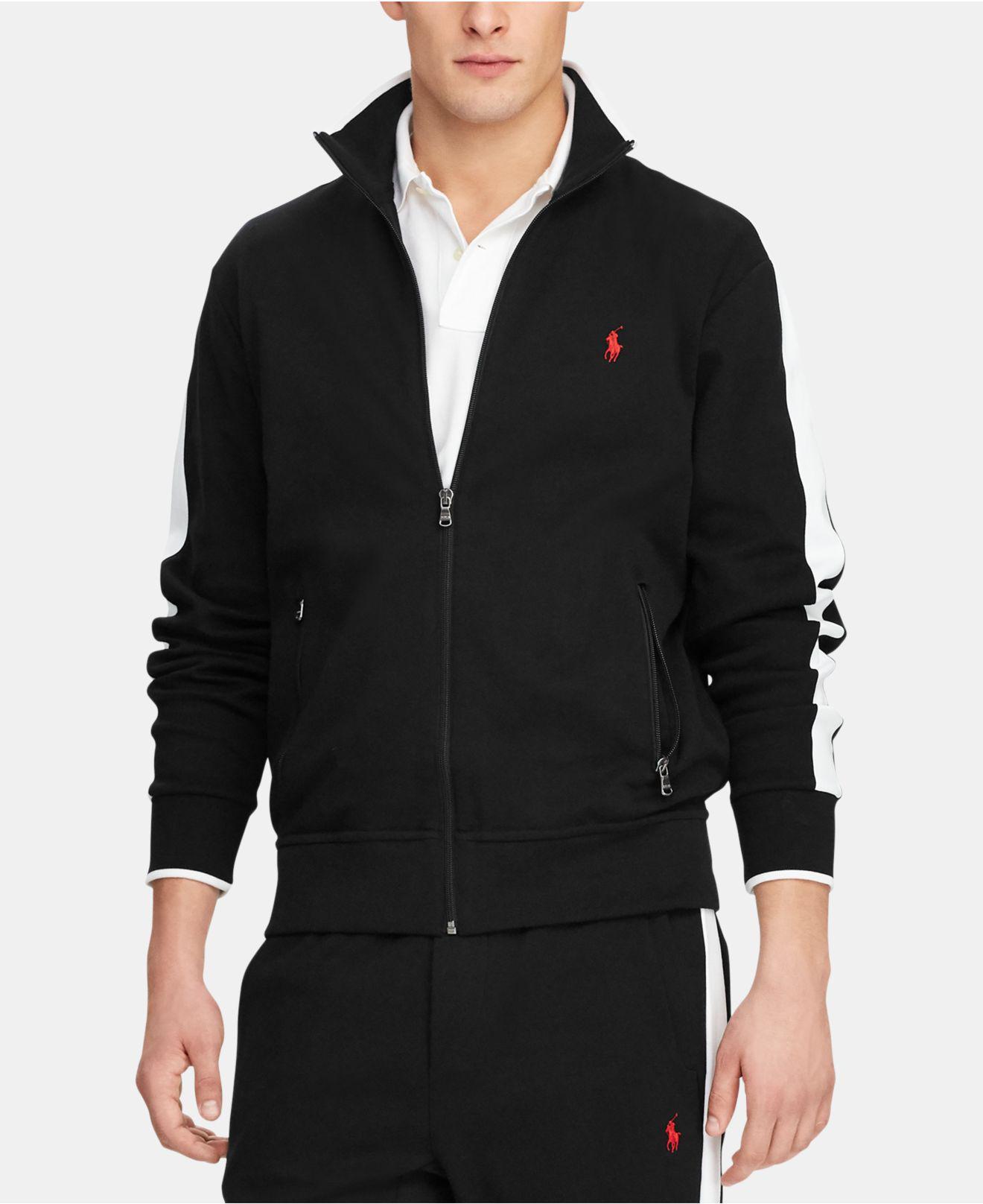 0da86dbae0dd Lyst - Polo Ralph Lauren Interlock Cotton Track Jacket in Black for Men