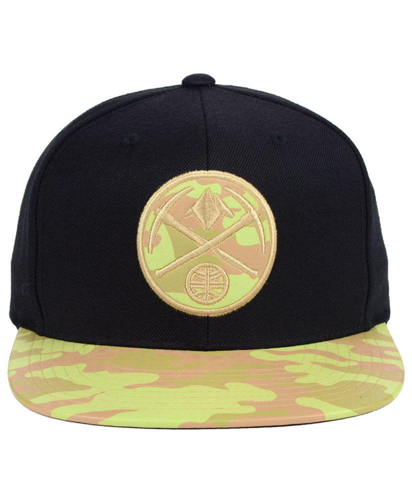 Lyst - Mitchell   Ness Denver Nuggets Natural Camo Snapback Cap in Black  for Men 0fb5dab7dd95