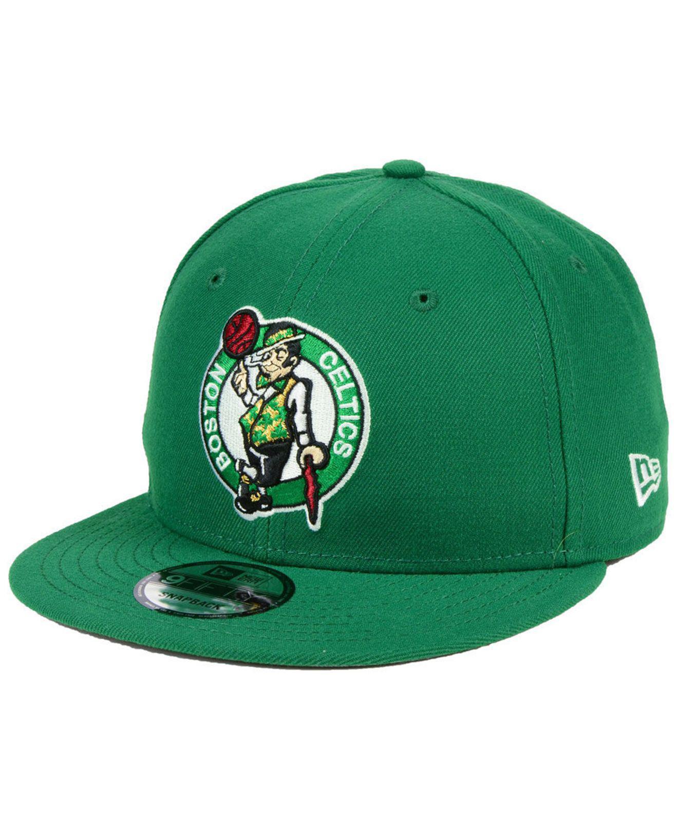 best deals on b3a4b f8631 ... sweden ktz green boston celtics basic 9fifty snapback cap for men lyst. view  fullscreen 0741c