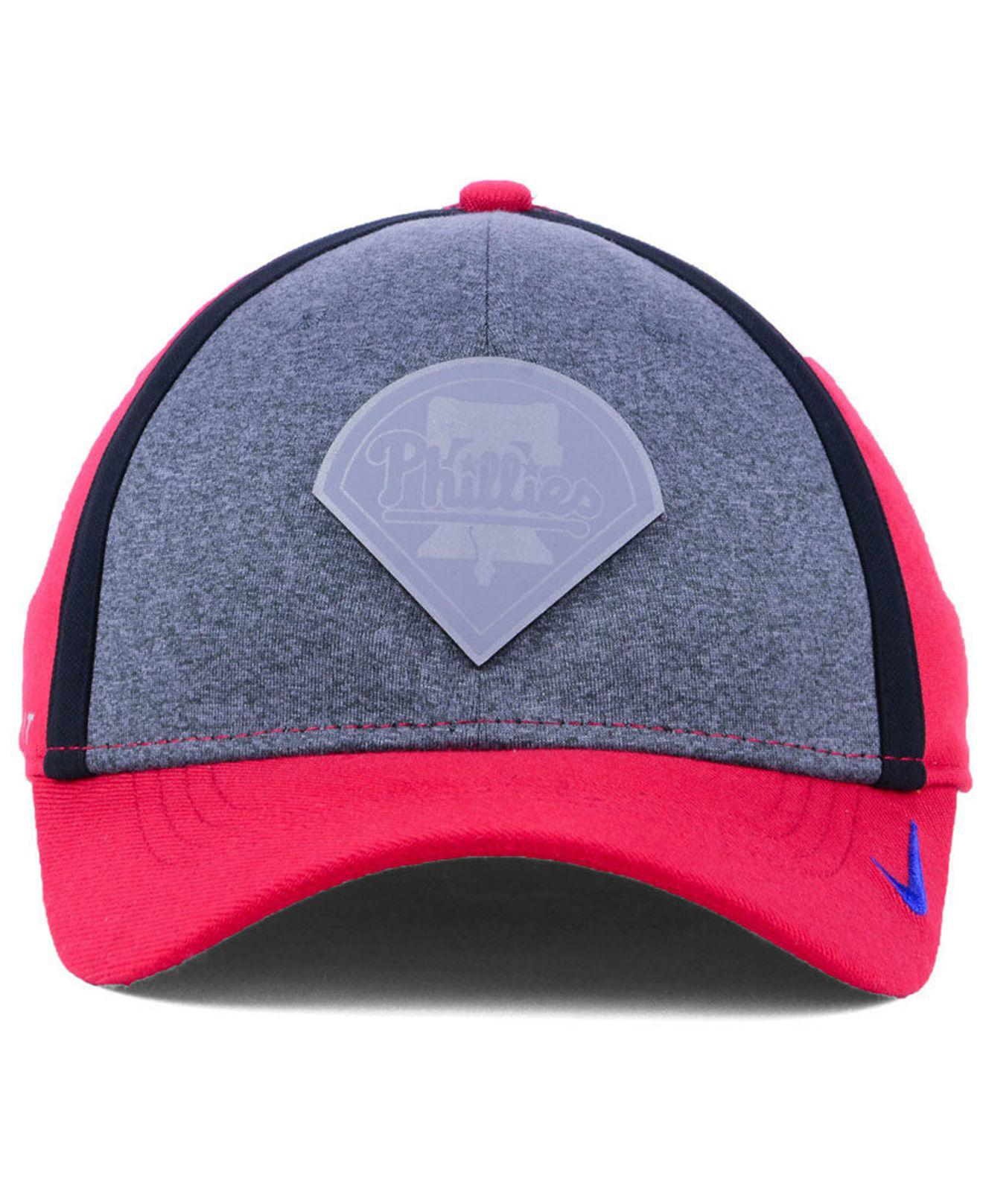 a466c9f89eeee Lyst - Nike Philadelphia Phillies Team Color Reflective Swooshflex Cap in  Red for Men