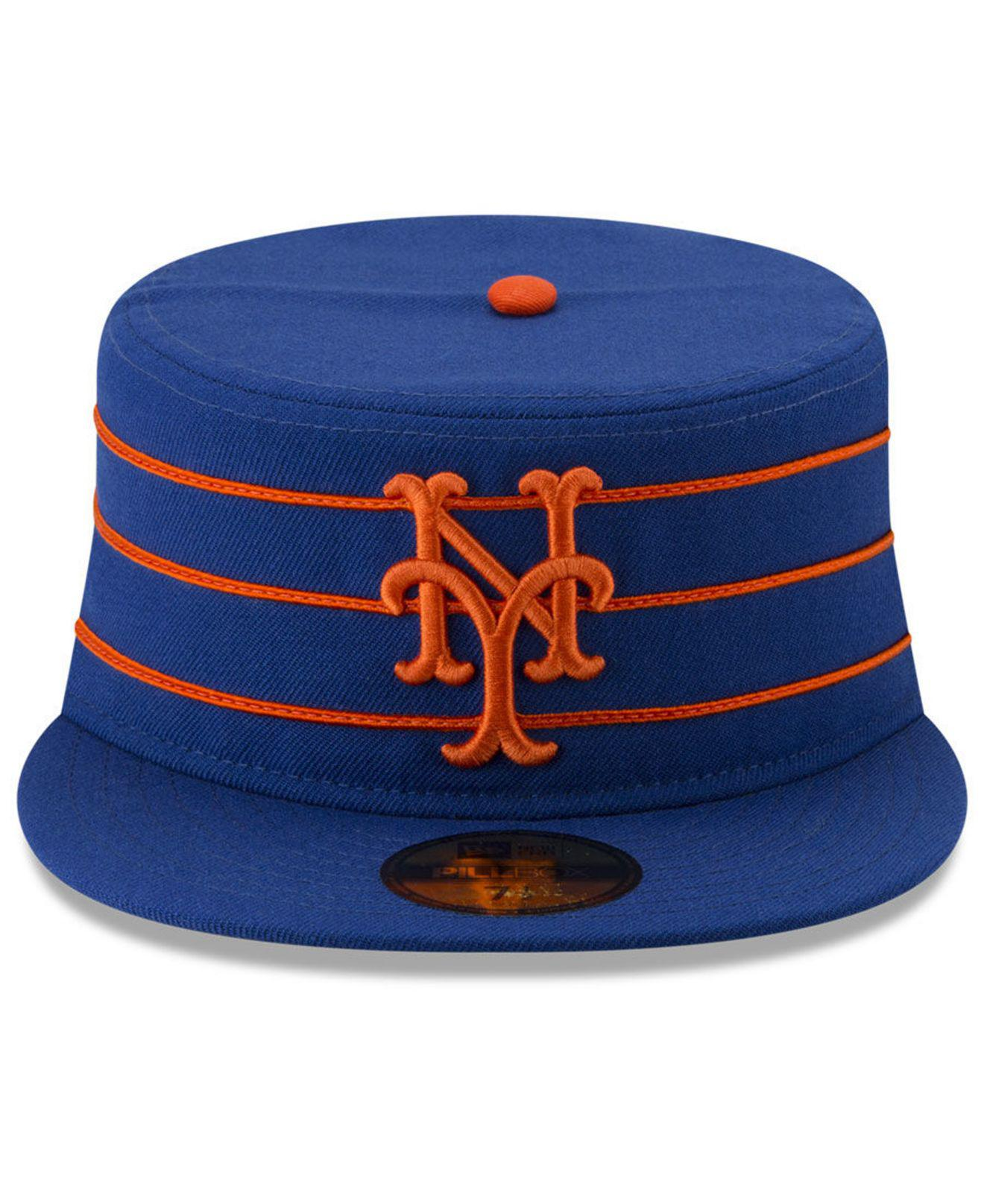 huge selection of 37c59 e10ec ... era fitted pillbox cap newera fitted pillbox baseball 4c574 53fb2   where can i buy lyst ktz new york mets pillbox 59fifty fitted cap in blue  for