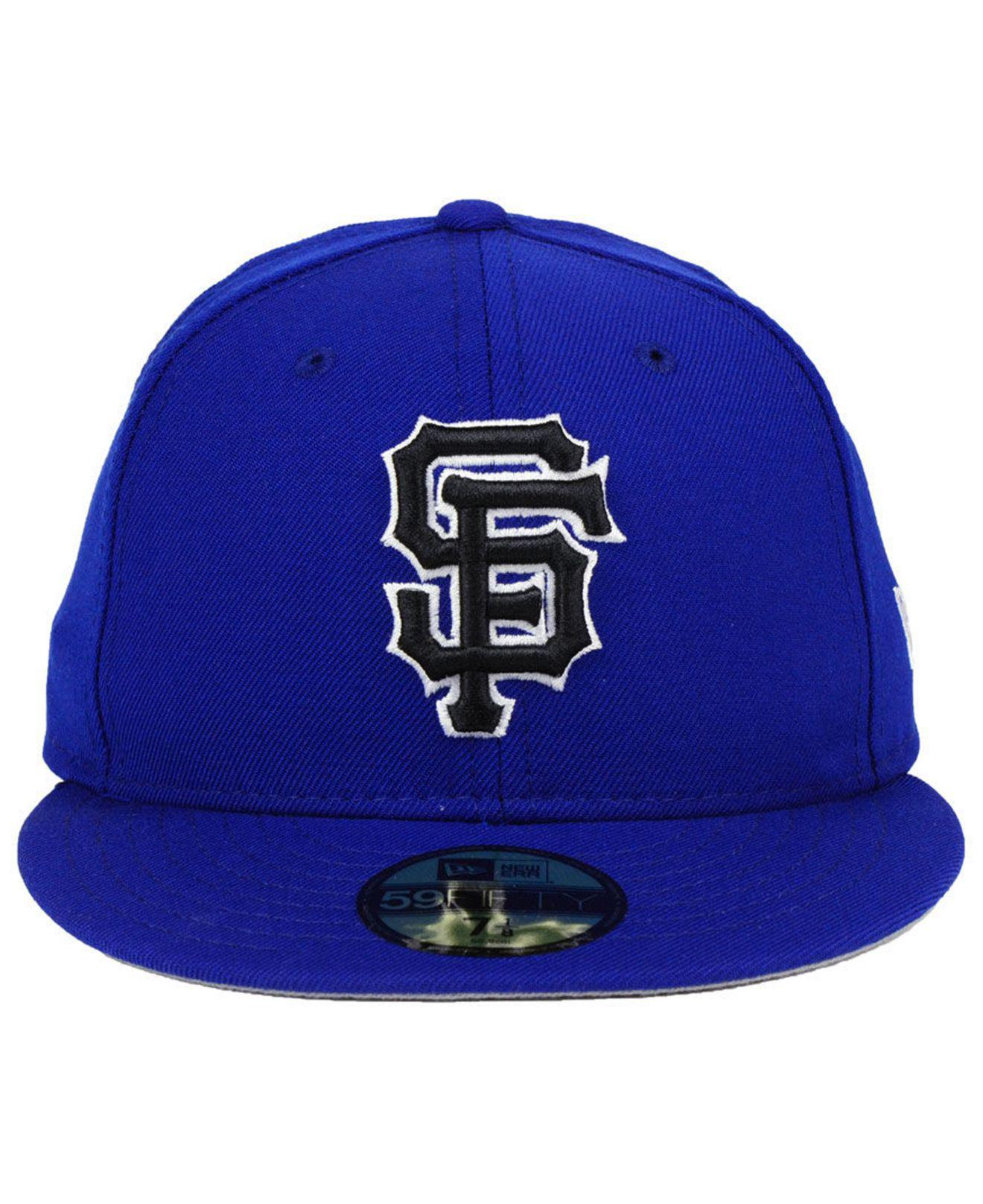 competitive price 7d35a 1628d ... france lyst ktz san francisco giants royal pack 59fifty fitted cap in  blue for men save