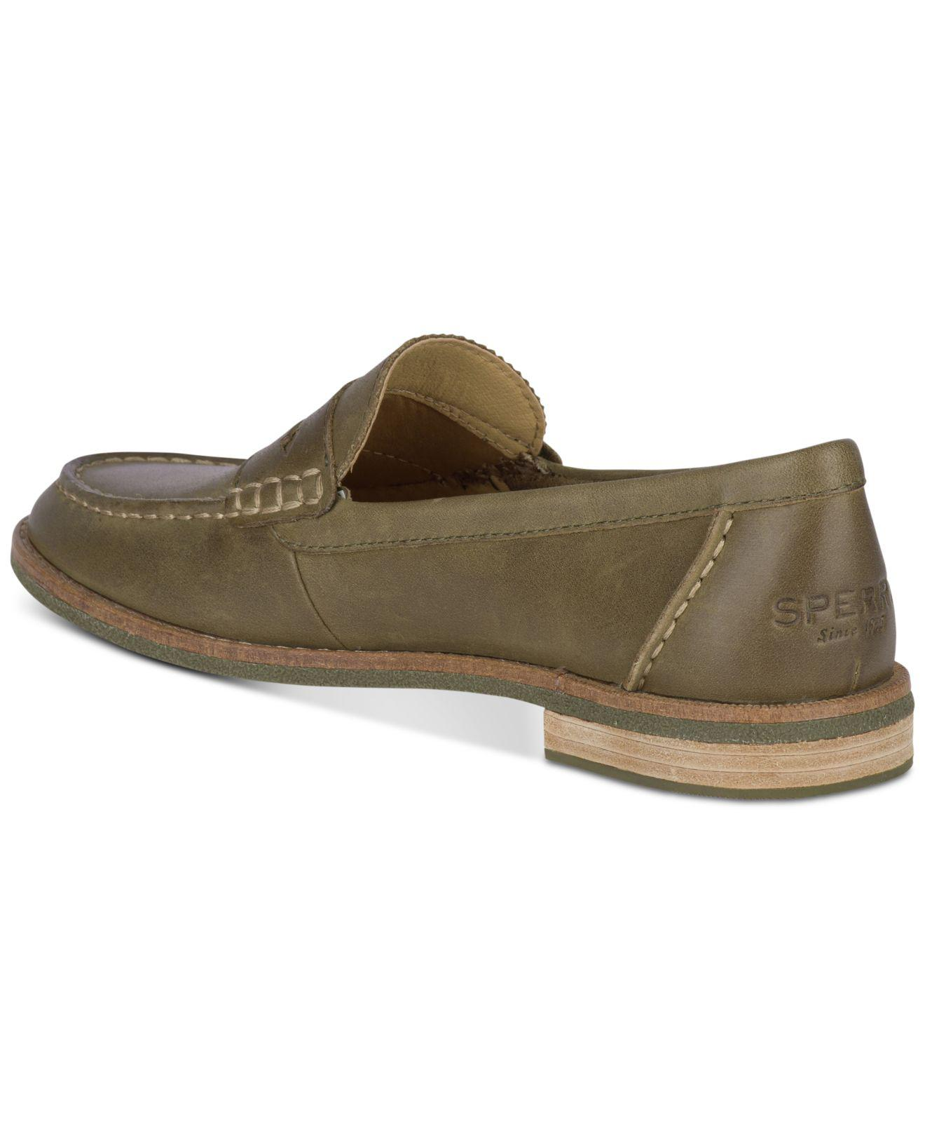 e12e97dc61b Sperry Top-Sider - Green Seaport Penny Memory Foam Loafers - Lyst. View  fullscreen