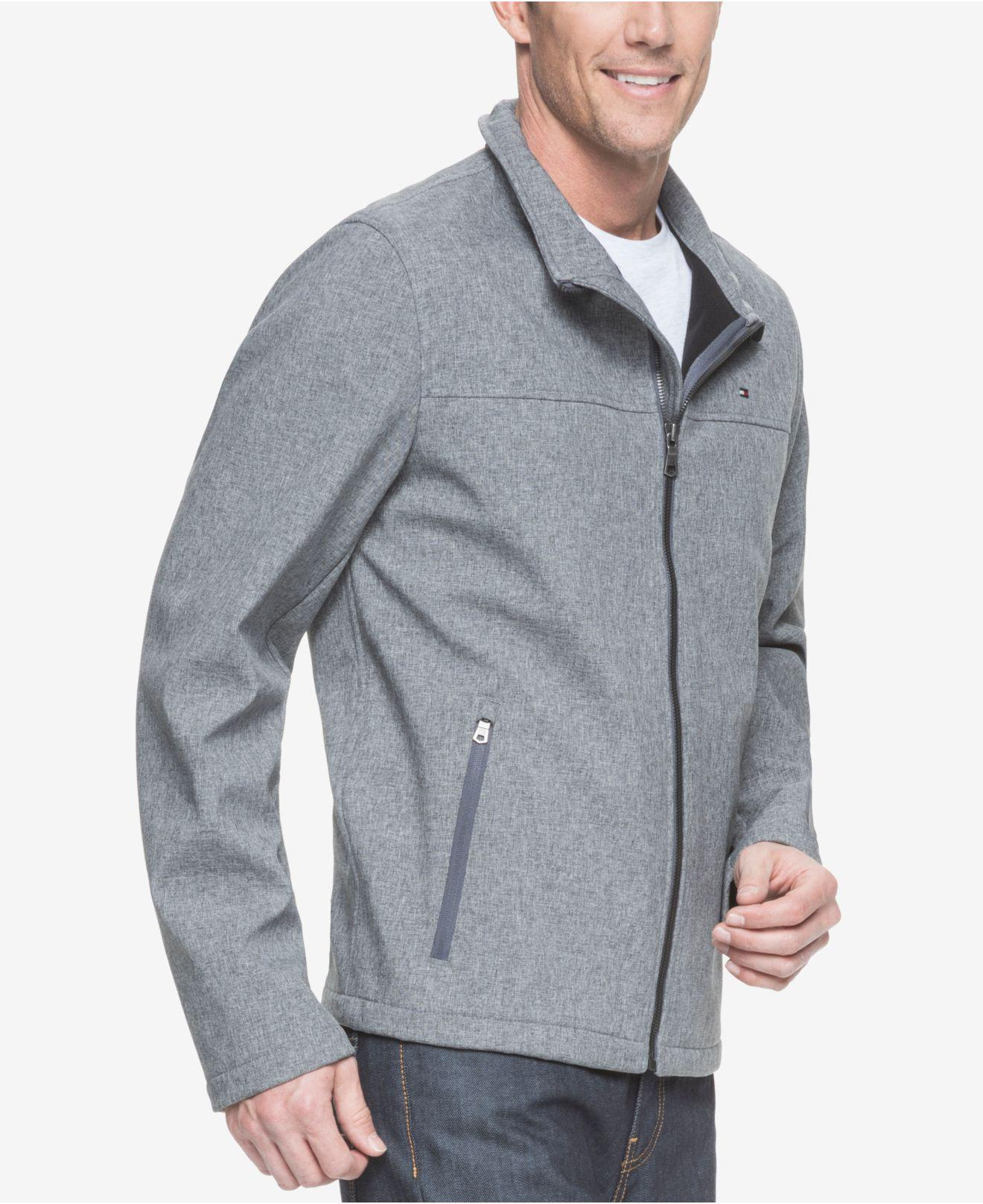 47ede0f1 Tommy Hilfiger - Gray Big & Tall Classic Softshell Jacket for Men - Lyst.  View fullscreen