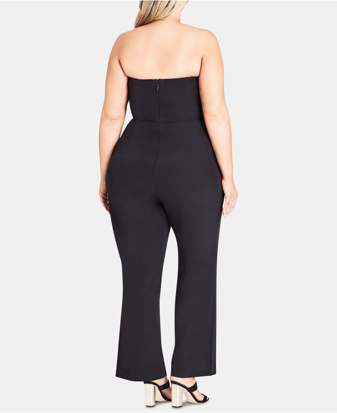 cdb2468138 Lyst - City Chic Trendy Plus Size Twister Jumpsuit in Black