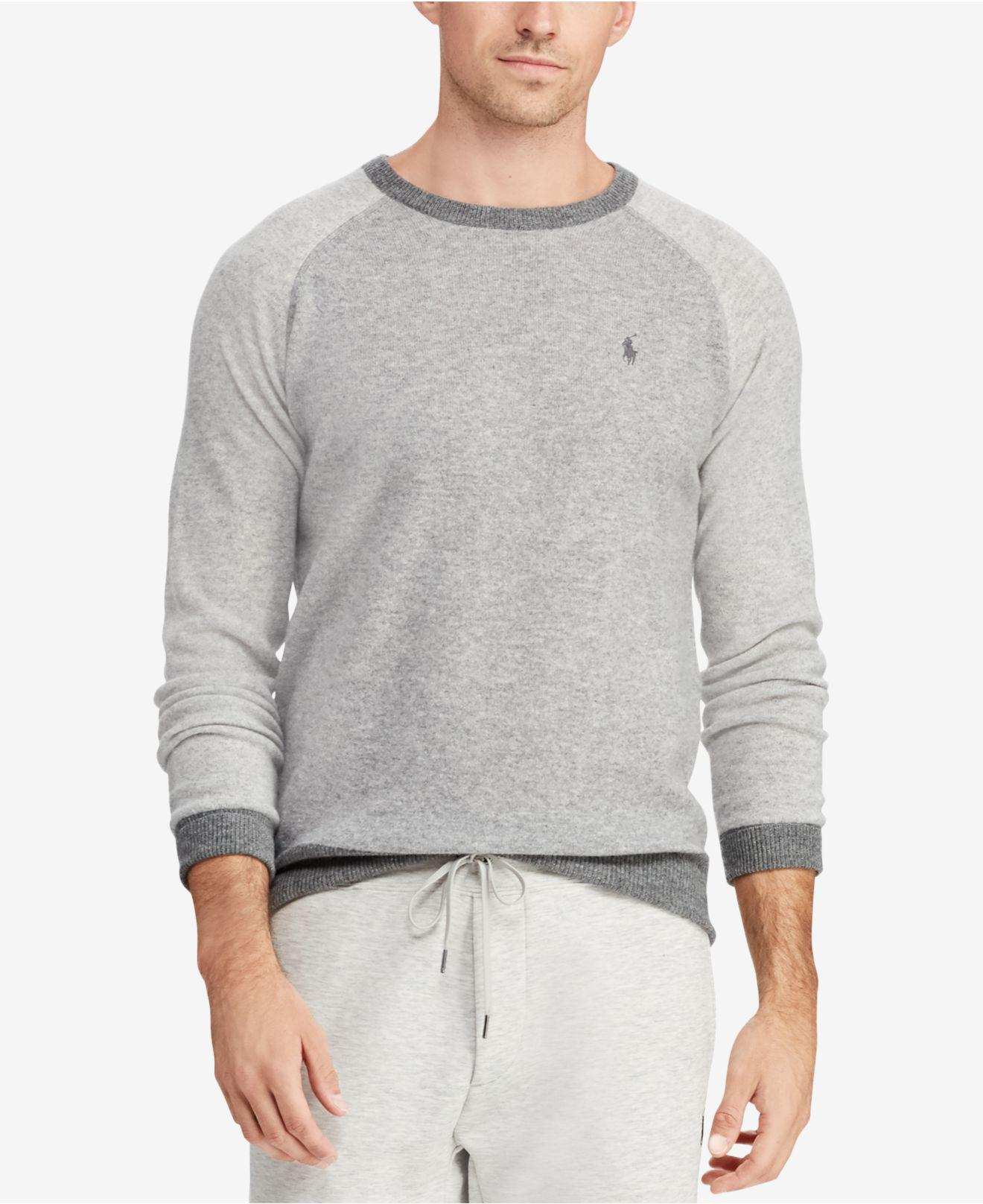 a4442d6e31a Lyst - Polo Ralph Lauren Cashmere Sweater in Gray for Men