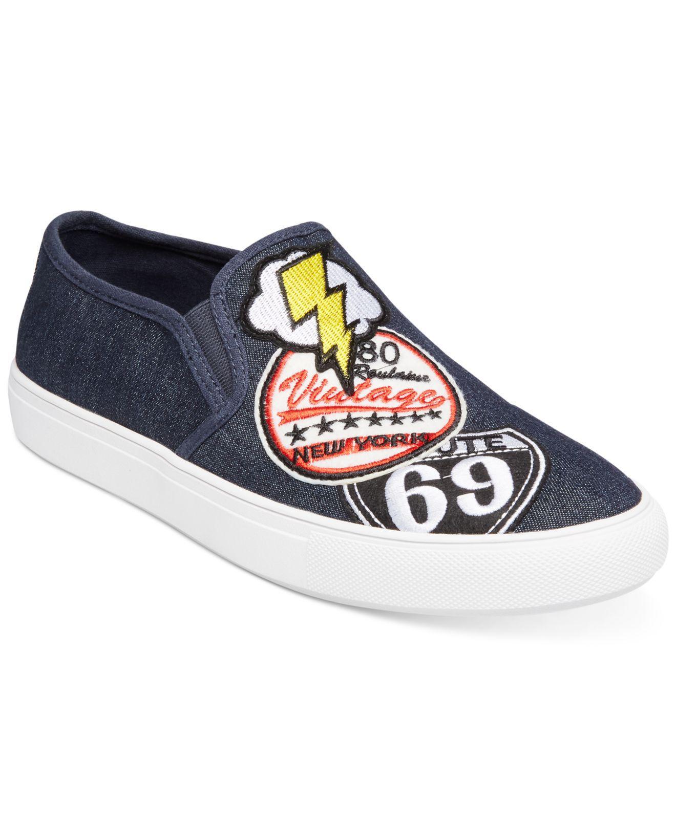 940653ca572 Steve Madden Men s Wasdin Slip-on Sneakers in Blue for Men - Lyst