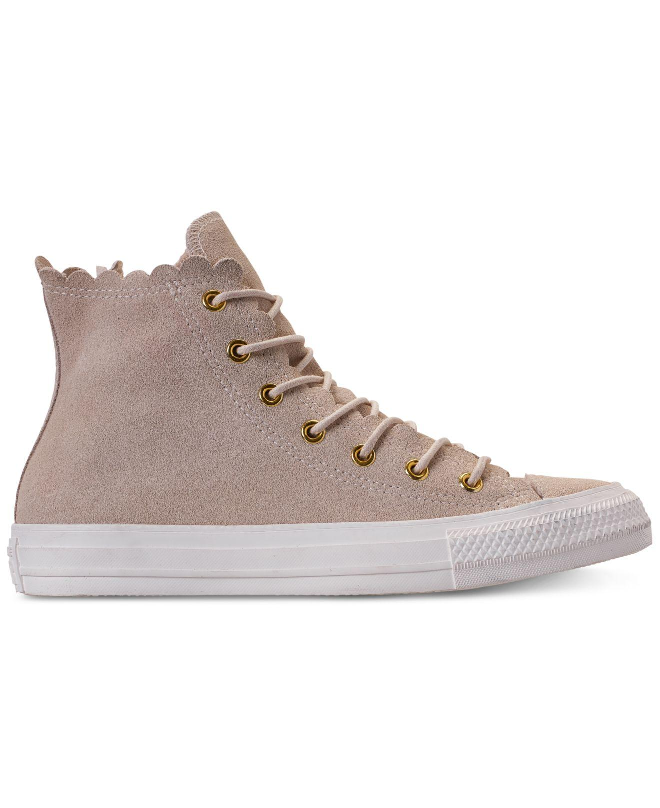926418ba0814 Lyst - Converse Chuck Taylor All Star Scallop Natural - Save 28%