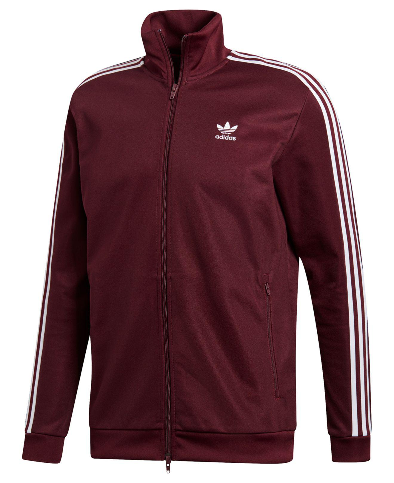 adidas Adicolor Beckenbauer Track Jacket in Red for Men