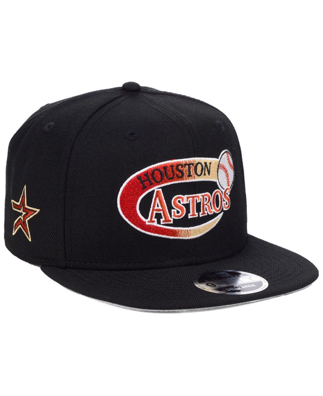 the latest f3be7 ce05c KTZ. Men s Black Houston Astros Swoop 9fifty Snapback Cap