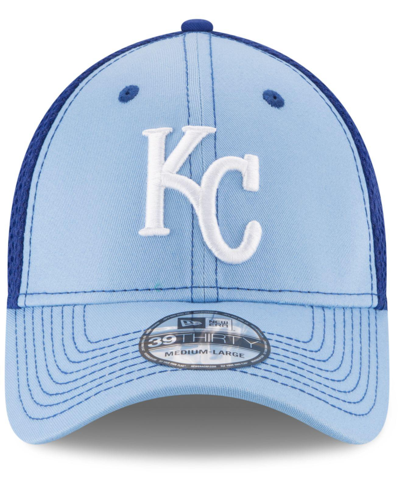 cheap for discount 75ca1 9c33f KTZ - Blue Kansas City Royals Team Front Neo 39thirty Cap for Men - Lyst