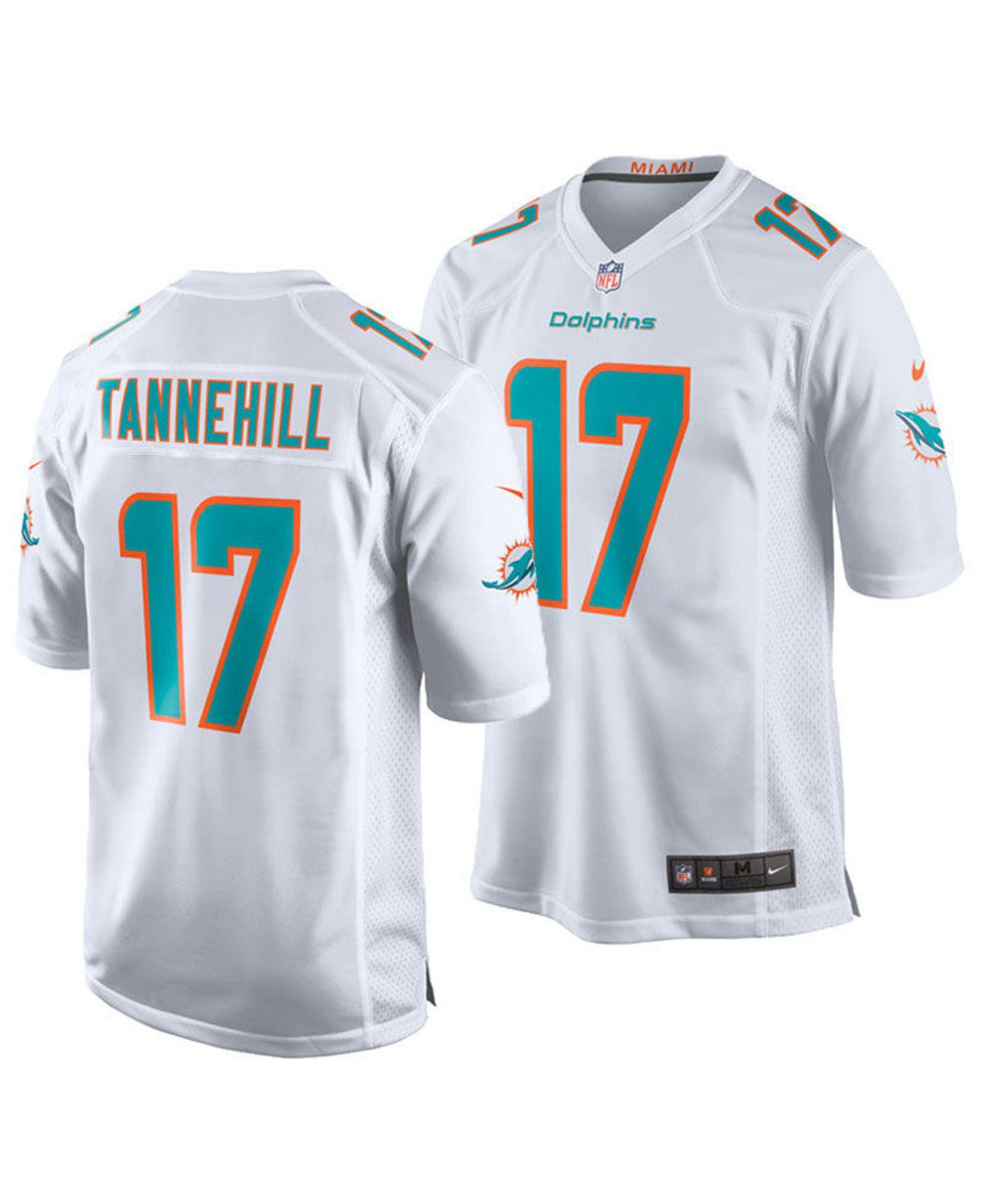274ea03a Lyst - Nike Ryan Tannehill Miami Dolphins Game Jersey in White for Men
