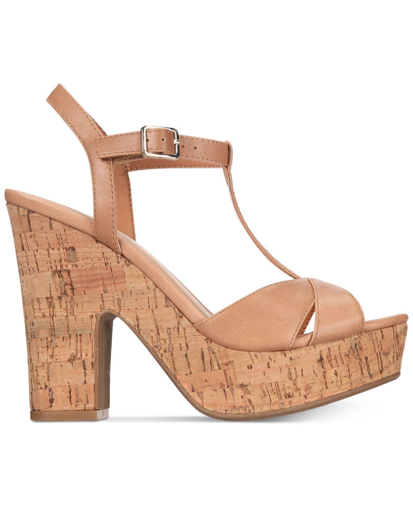 1e9efcb3589d Lyst - American Rag Jamie T-strap Platform Dress Sandals