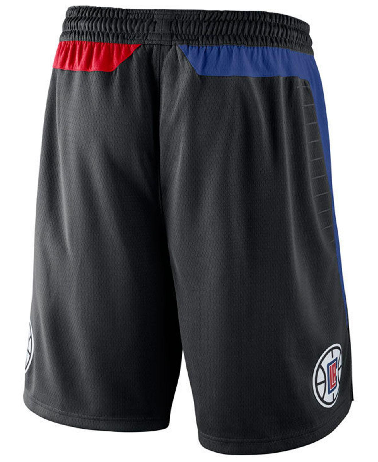 Lyst - Nike Los Angeles Clippers Statement Swingman Shorts in Black for Men a16ffdb0b