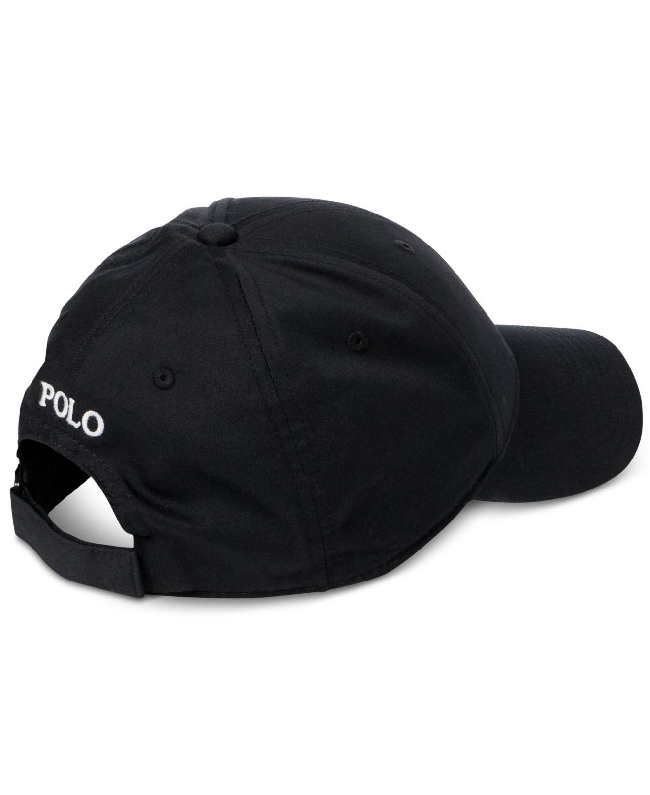bacb9f4e45c Lyst - Polo Ralph Lauren Baseline Performance Cap in Black for Men