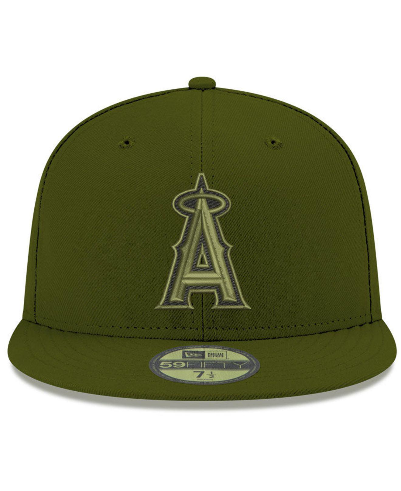 huge selection of 2856b 23d25 ... ireland lyst ktz los angeles angels reverse c dub 59fifty fitted cap in  green for men