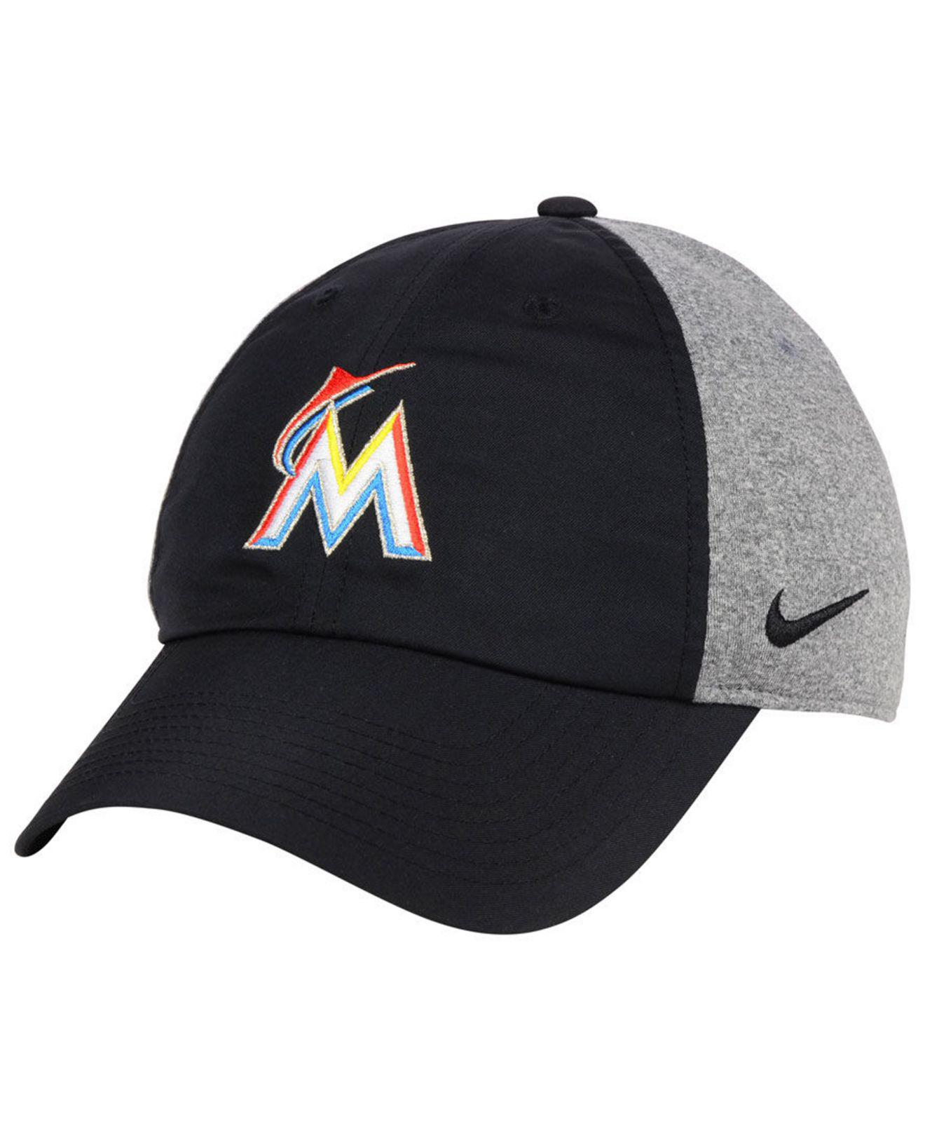 best service cccff 78eda ... reduced lyst nike miami marlins new day legend cap in black for men  b2a8c 69450