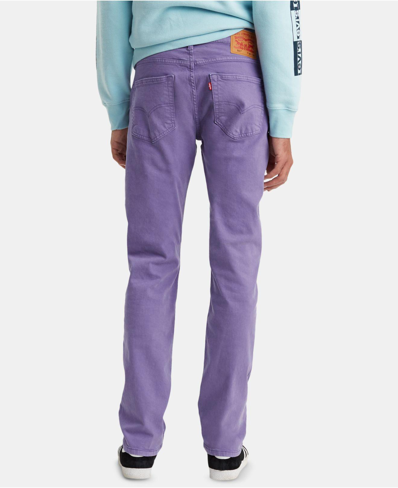 a2193320f4a Lyst - Levi s ® 511tm Slim Fit Colored Jeans in Purple for Men