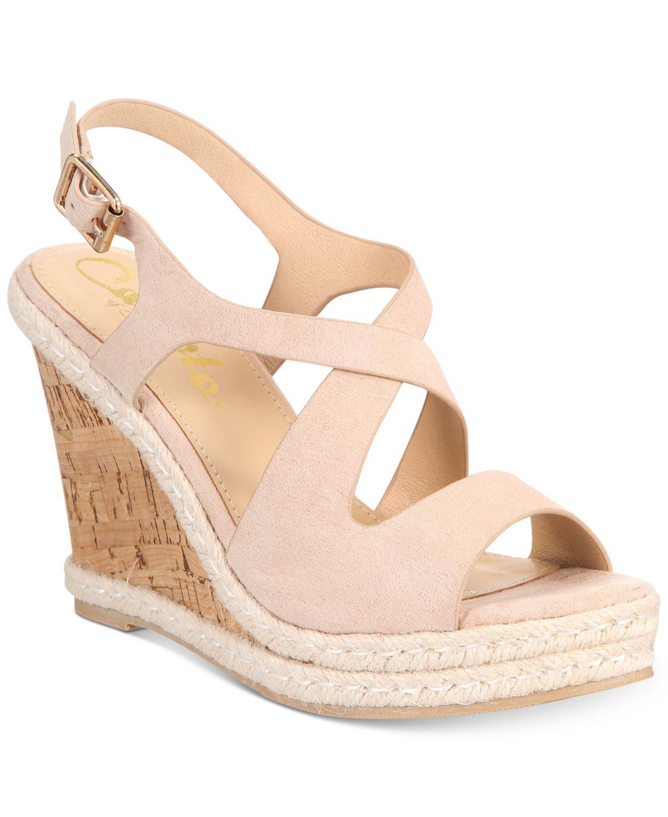 52ea562235b3 Lyst - Callisto Brielle Espadrille Platform Wedge Sandals - Save 52%