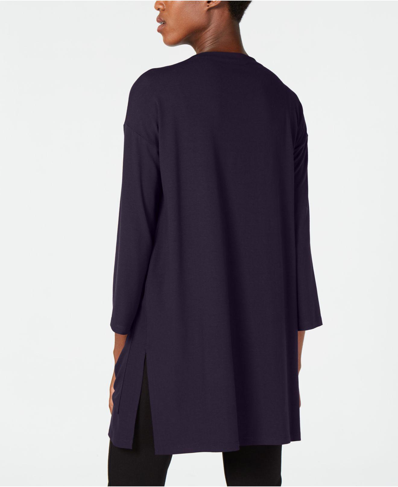 167a67064da Eileen Fisher Stretch Jersey Patch Pocket Tunic, Regular & Petite in ...