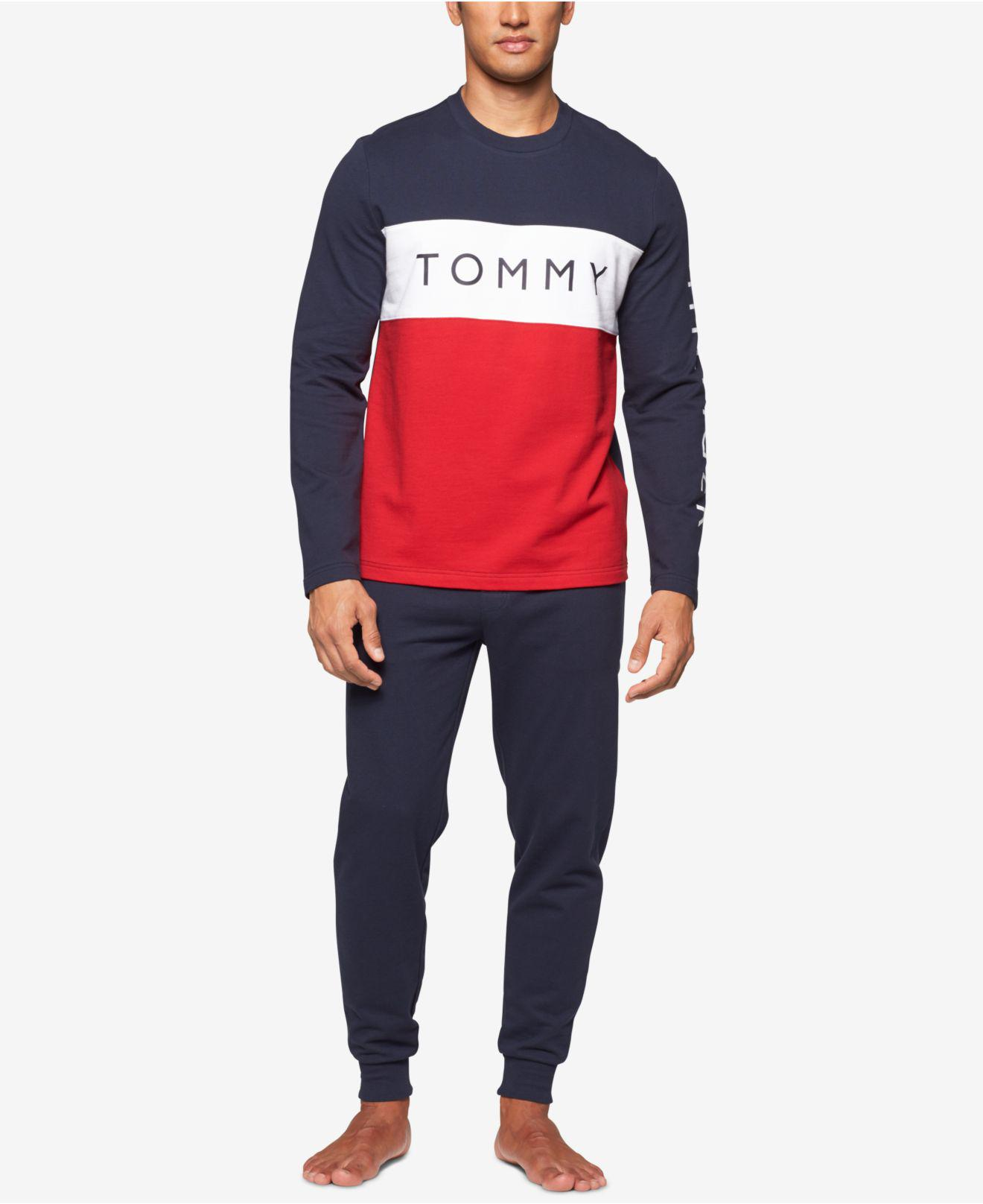 ef056fd34378 Tommy Hilfiger Men's Modern Essentials Cotton French Terry Logo Top ...