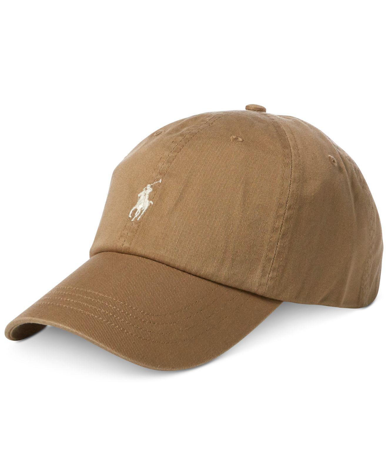 8843ee1c ... new zealand lyst polo ralph lauren chino baseball cap in brown for men  d32e0 12720