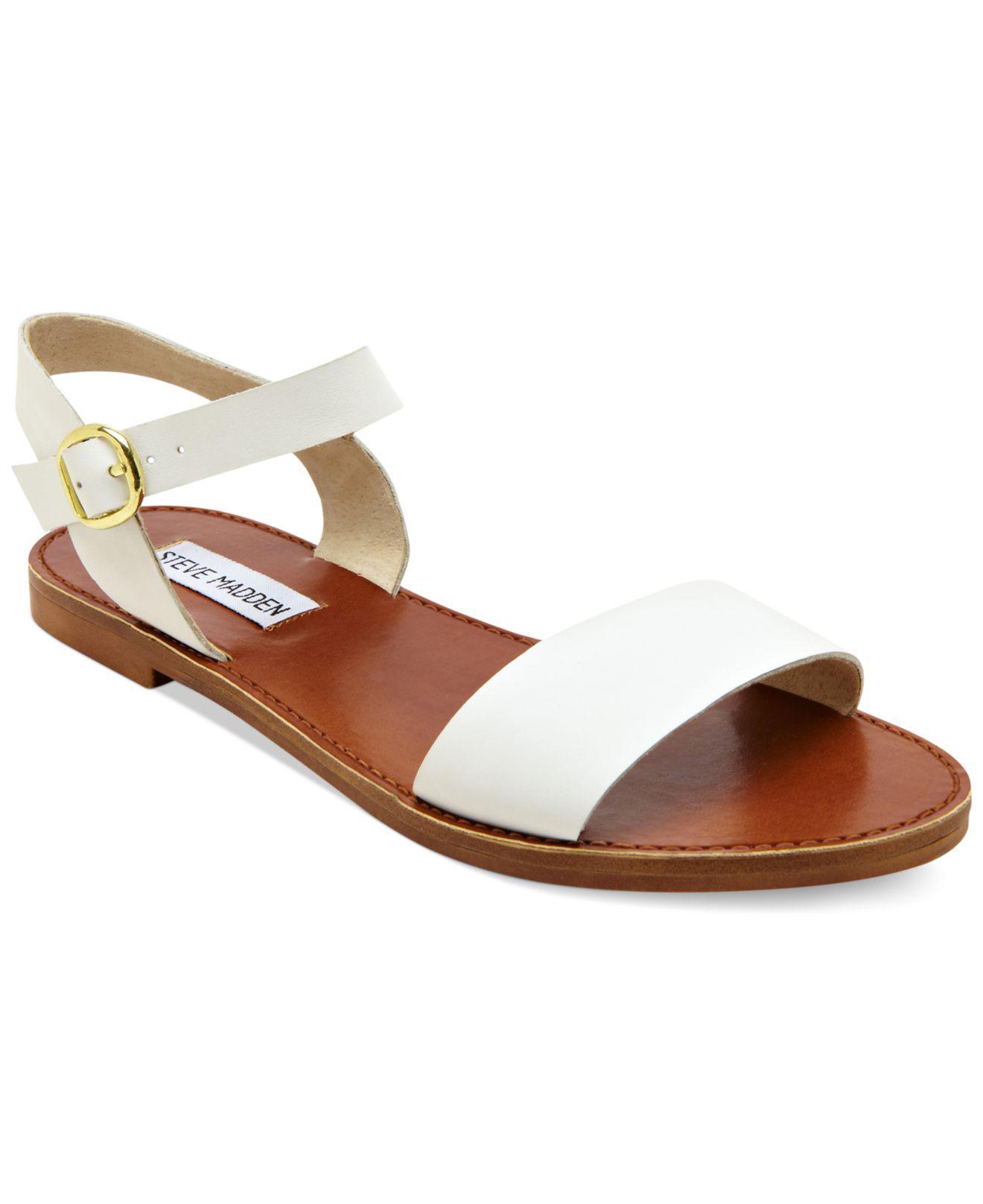 6f5ca3b6d459 Lyst steve madden donddi flat sandals in white jpg 1320x1616 Steve madden  white wedges