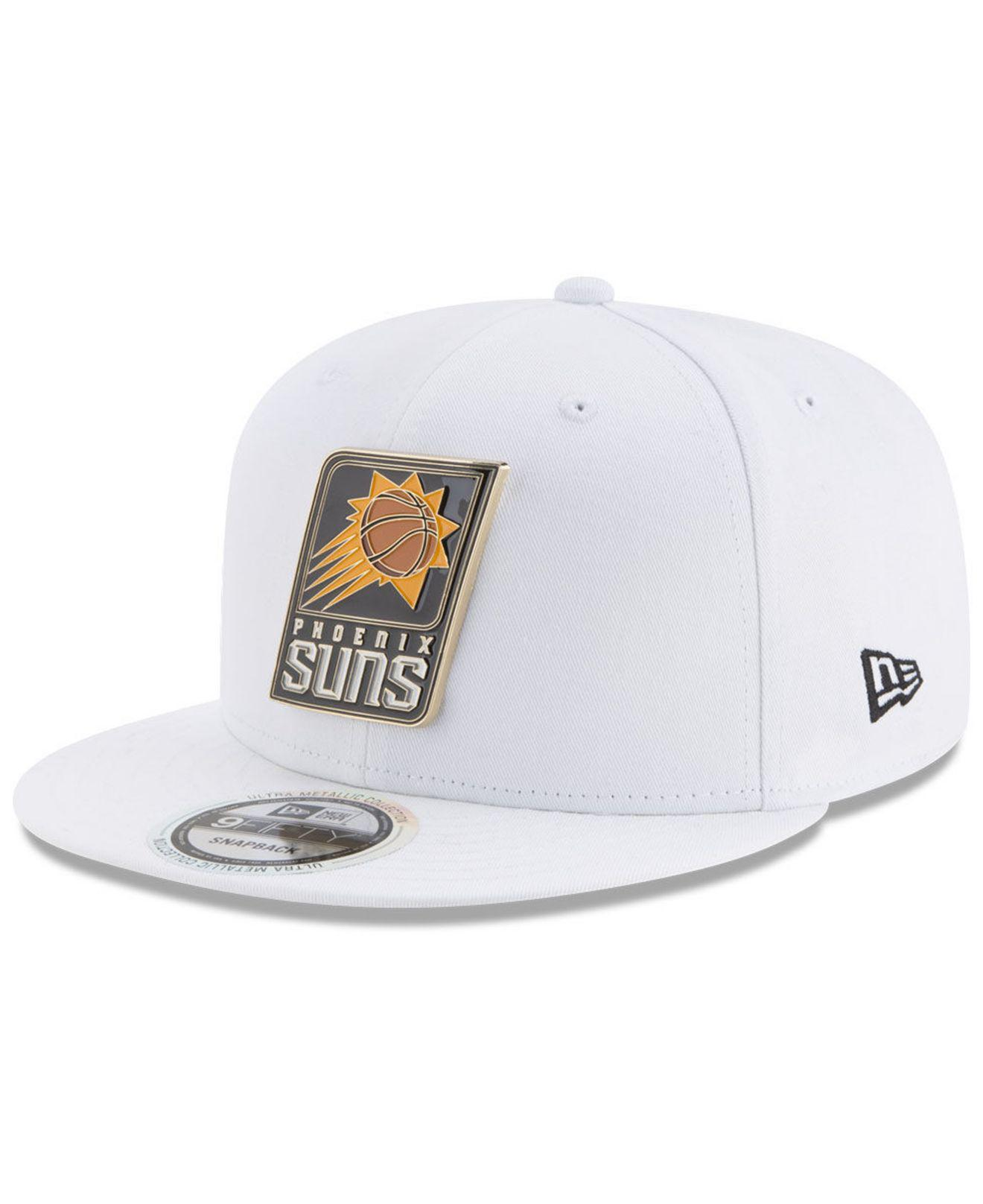 reputable site 77d6f fa037 Lyst - KTZ Phoenix Suns Enamel Badge 9fifty Snapback Cap in White ...