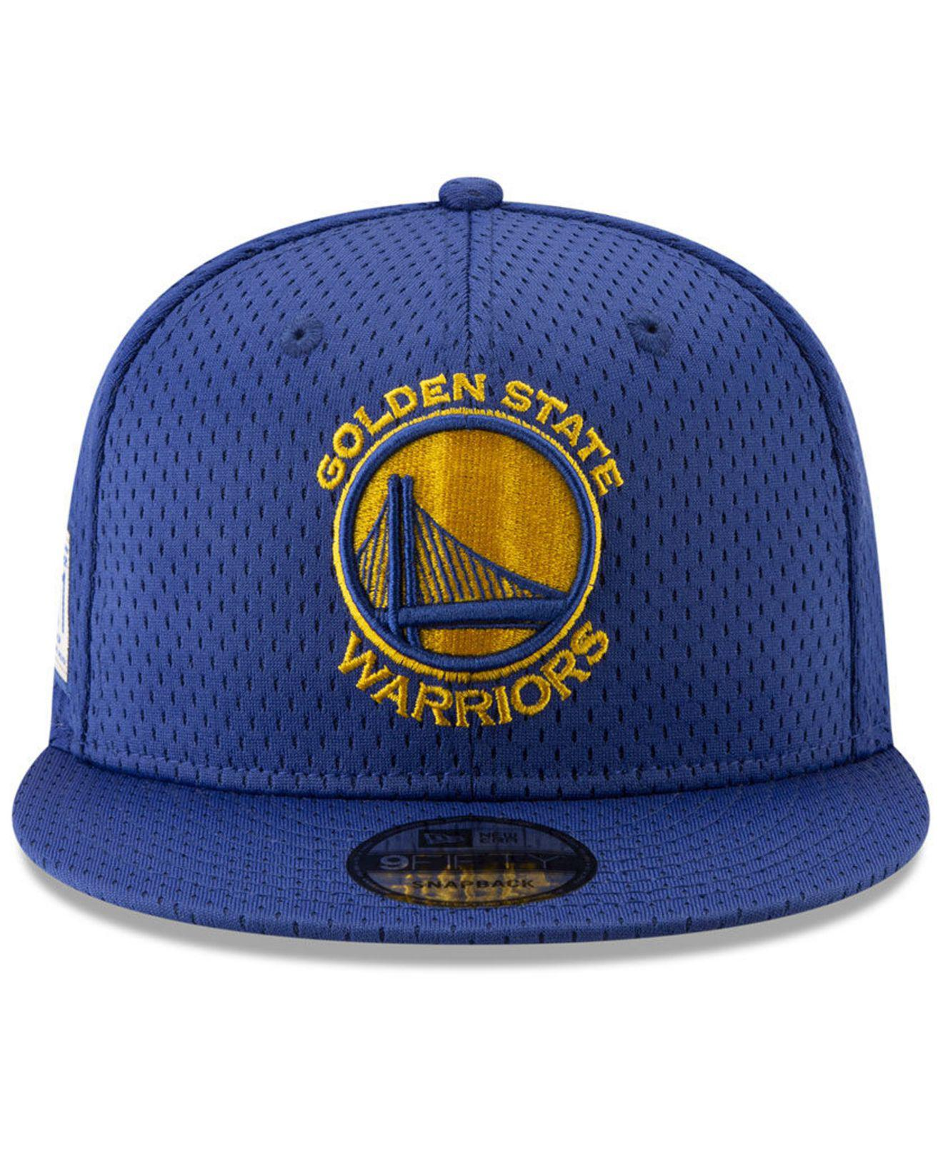 1696b74a3 ... greece lyst ktz golden state warriors jock tag 9fifty snapback cap in  blue for men 622e3